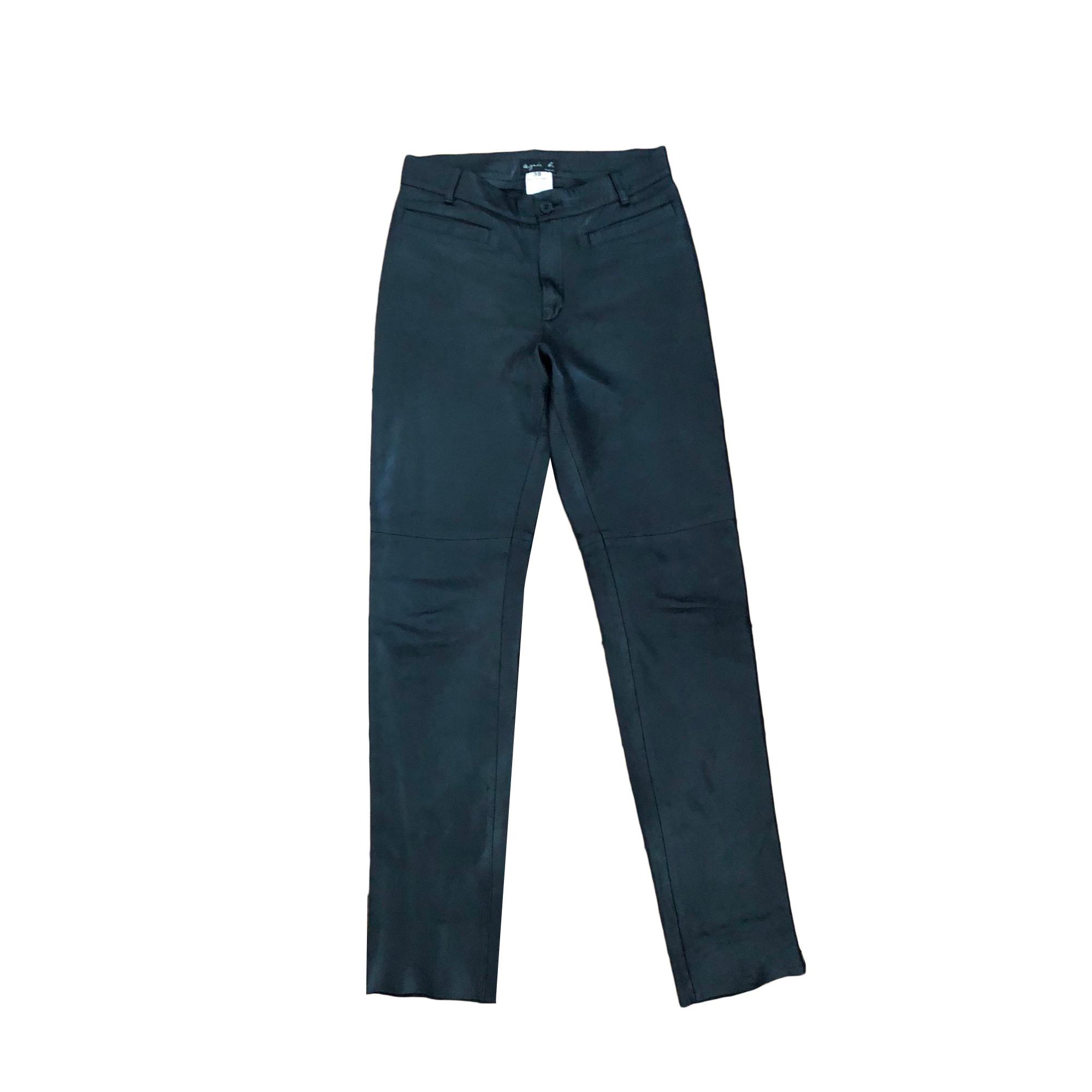 Pantalon droit AGNÈS B. Noir