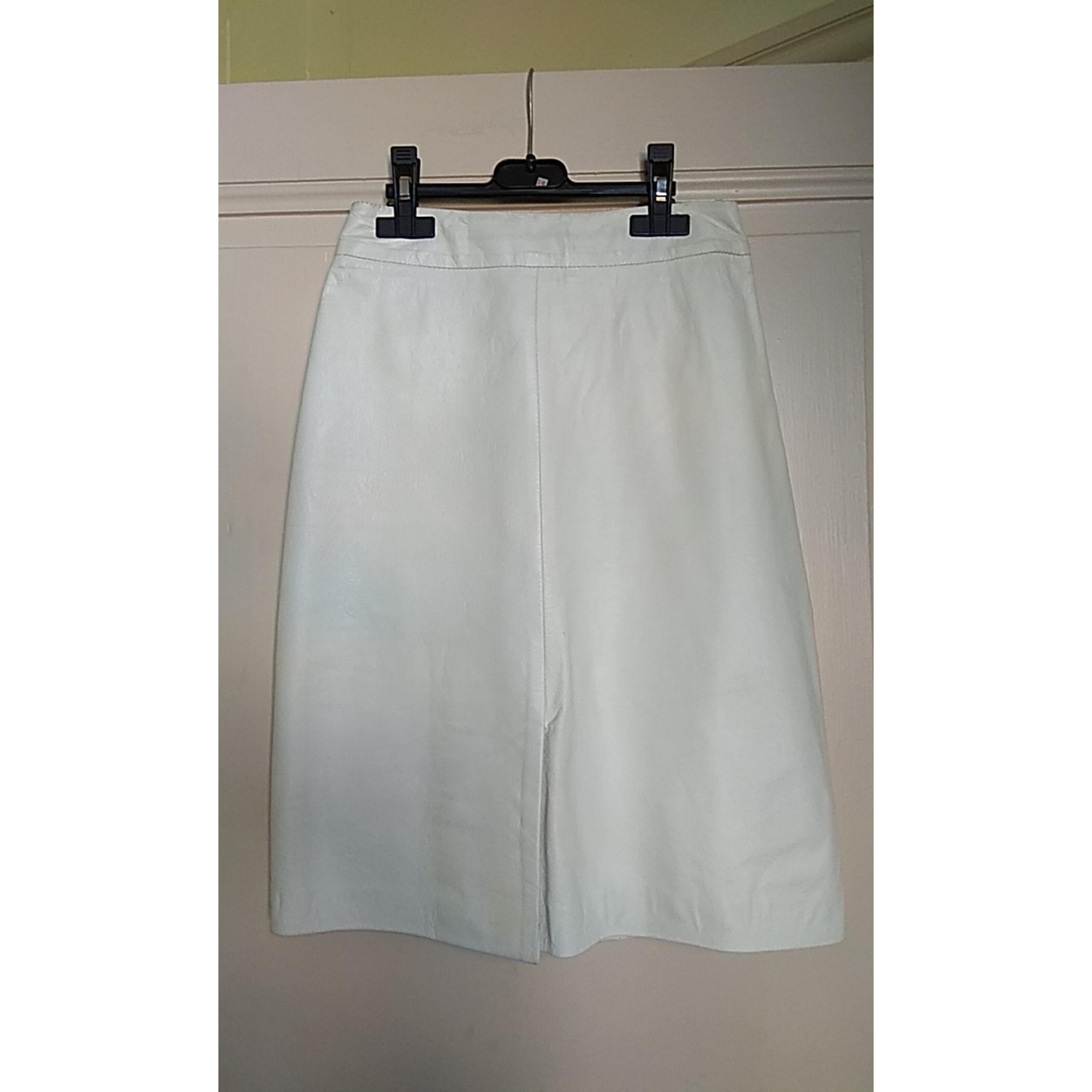 Jupe mi-longue GUY LAROCHE Blanc, blanc cassé, écru
