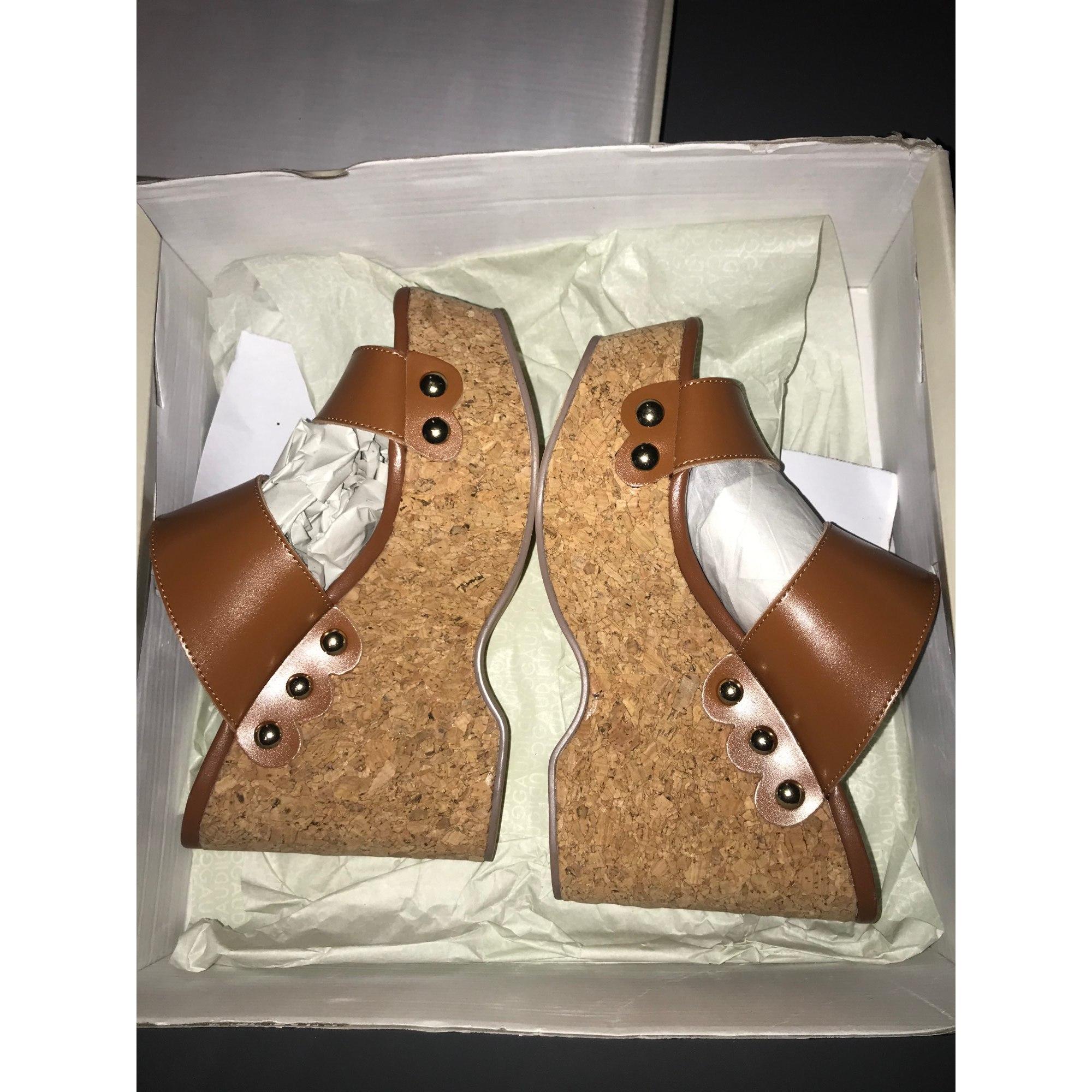 Sandales compensées GAUDI Beige, camel
