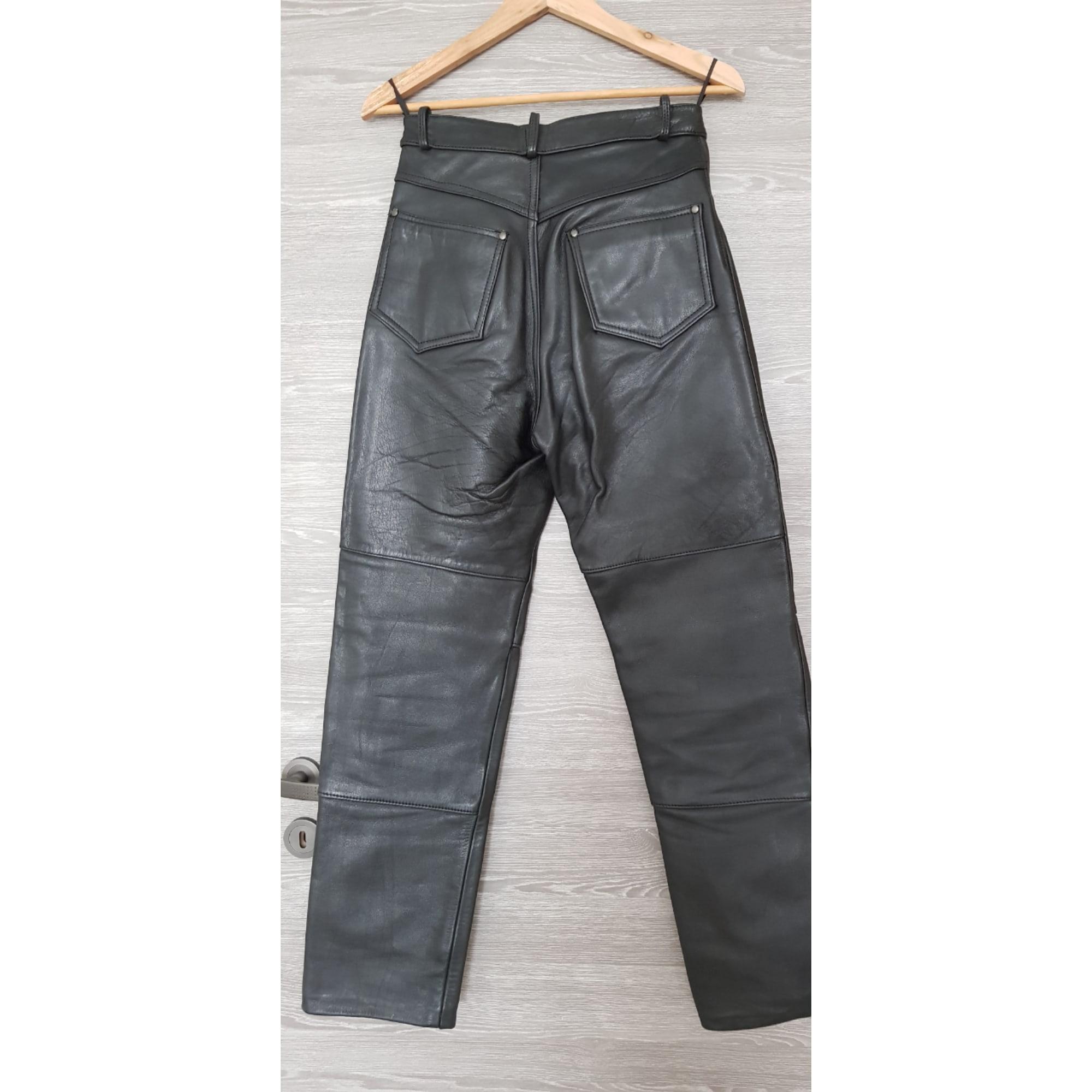 Pantalon droit MARQUE INCONNUE Noir