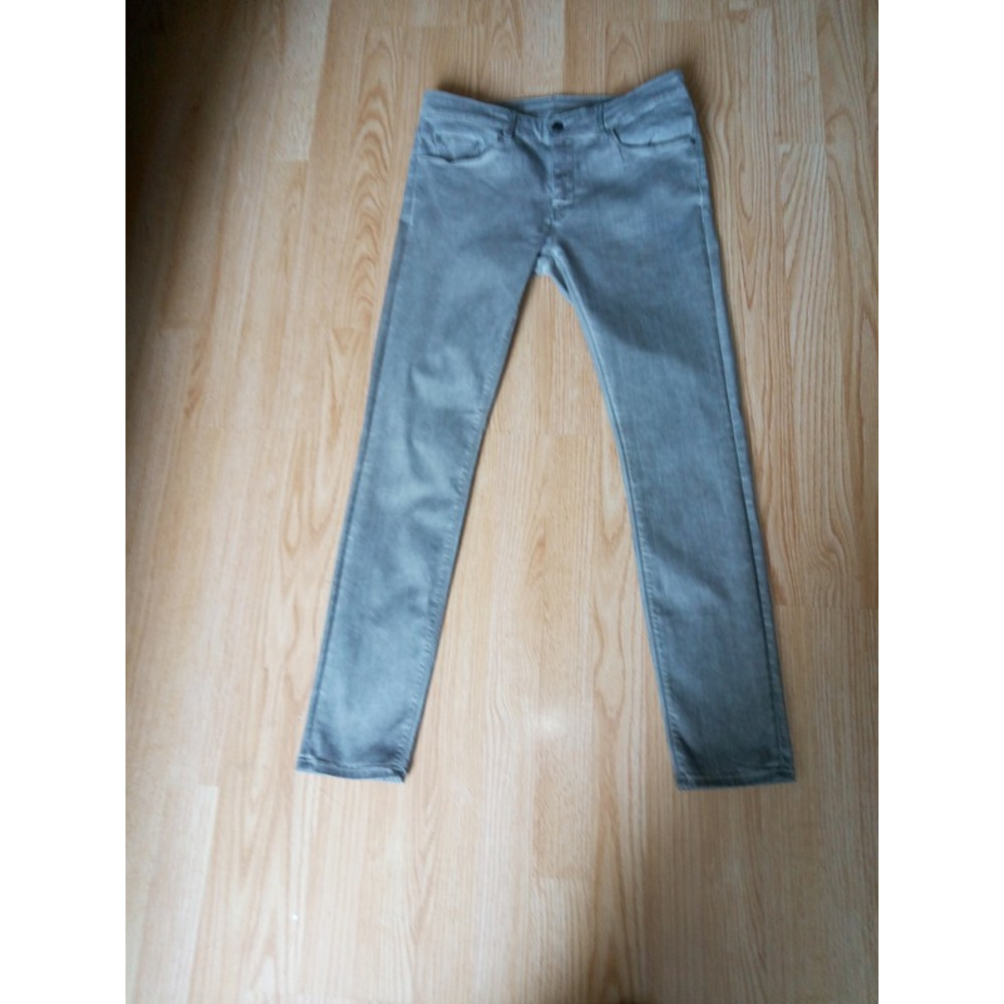 Jeans droit ZARA Gris, anthracite