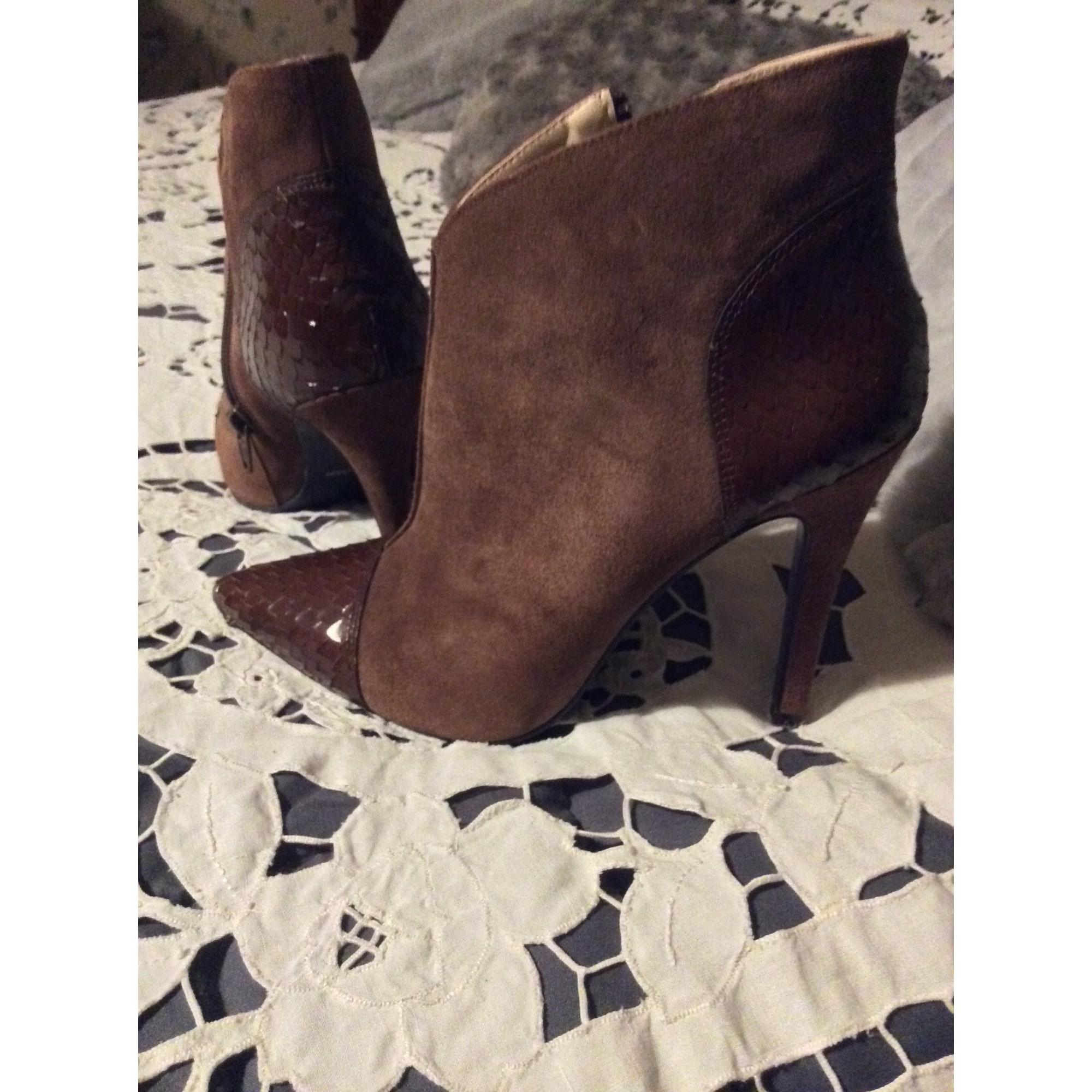 Bottines & low boots à talons MAI PIU SENZA Marron