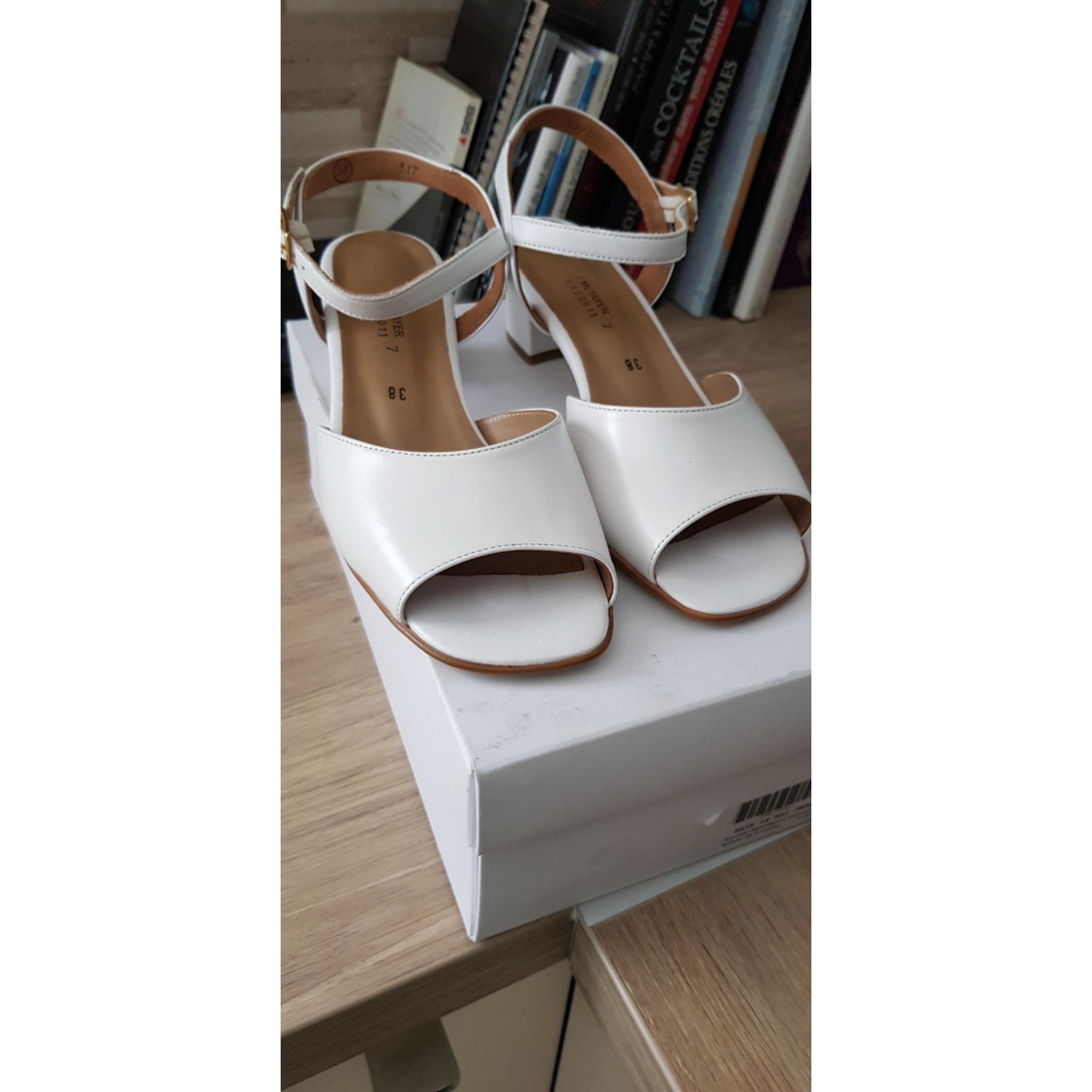 Sandales à talons MARQUE INCONNUE Blanc, blanc cassé, écru