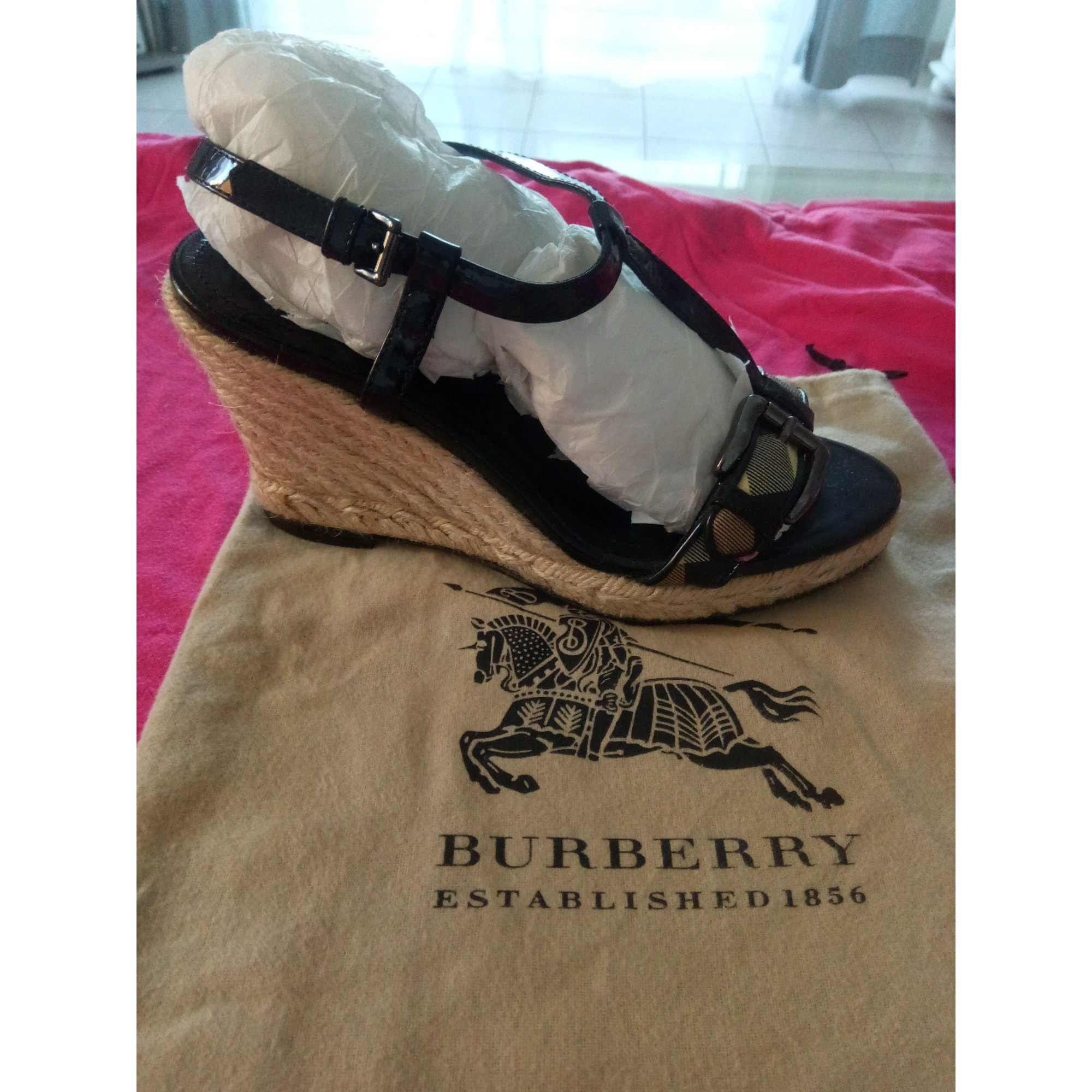 Sandales compensées BURBERRY Multicouleur