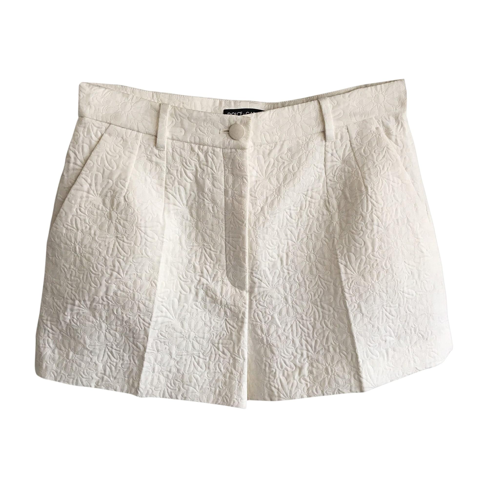 Short DOLCE & GABBANA Blanc, blanc cassé, écru