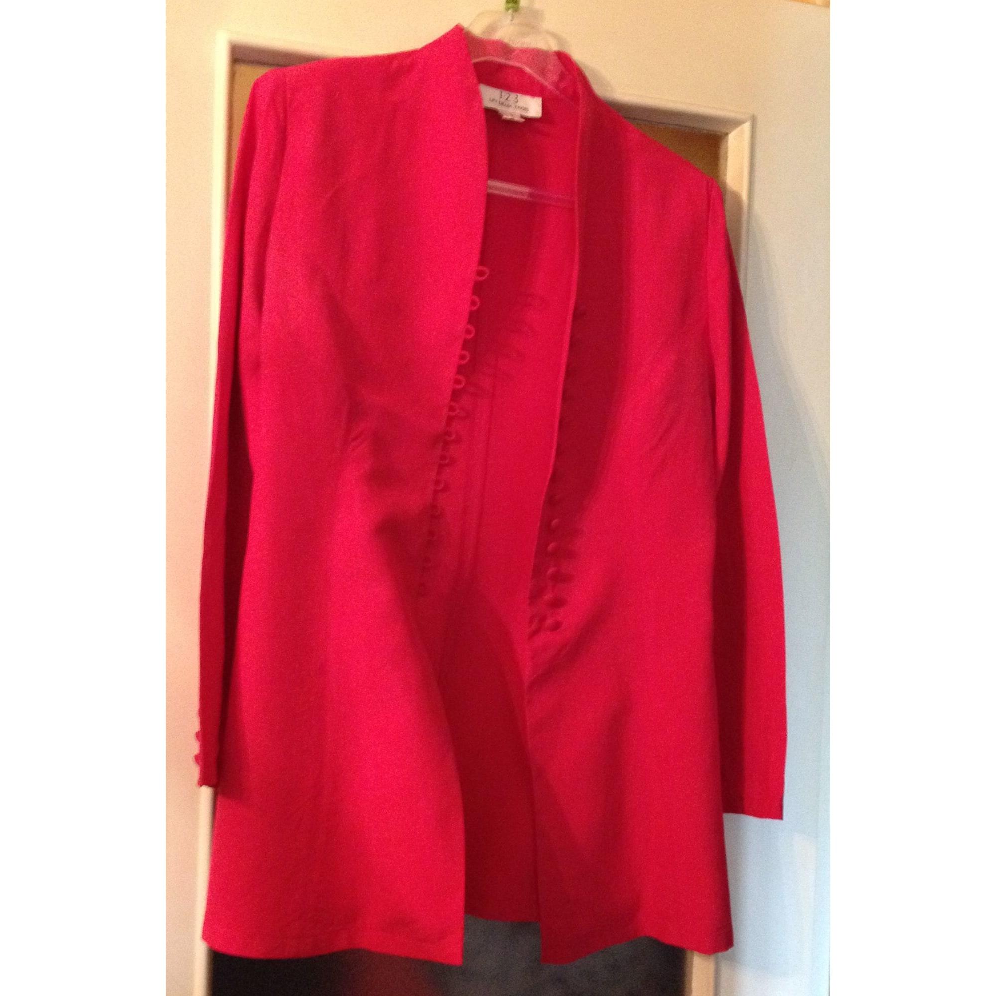 Tailleur jupe 1.2.3 Rouge, bordeaux