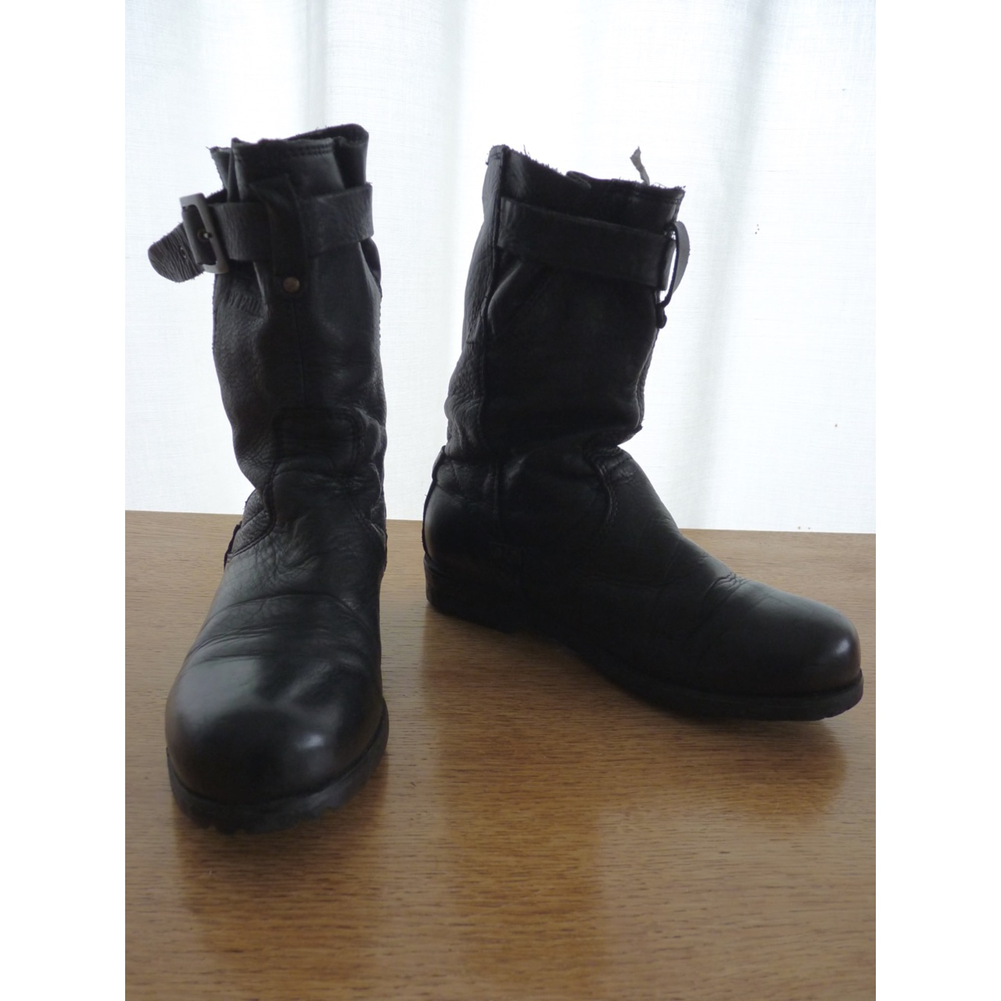 Bottines & low boots motards PALLADIUM Noir