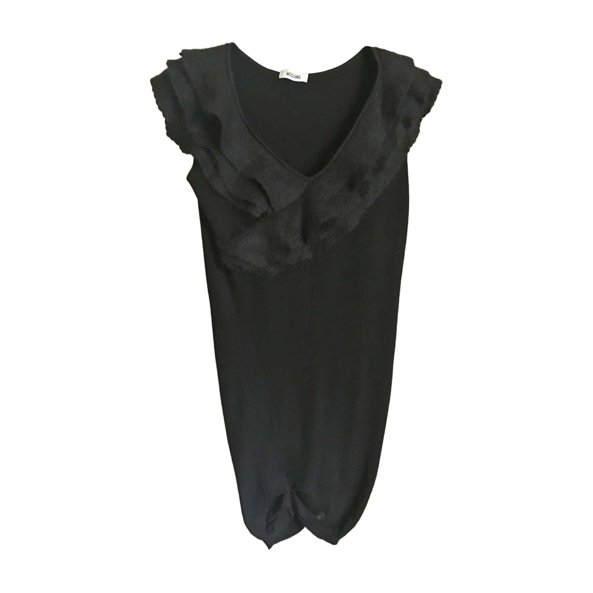 Robe mi-longue MOSCHINO Noir
