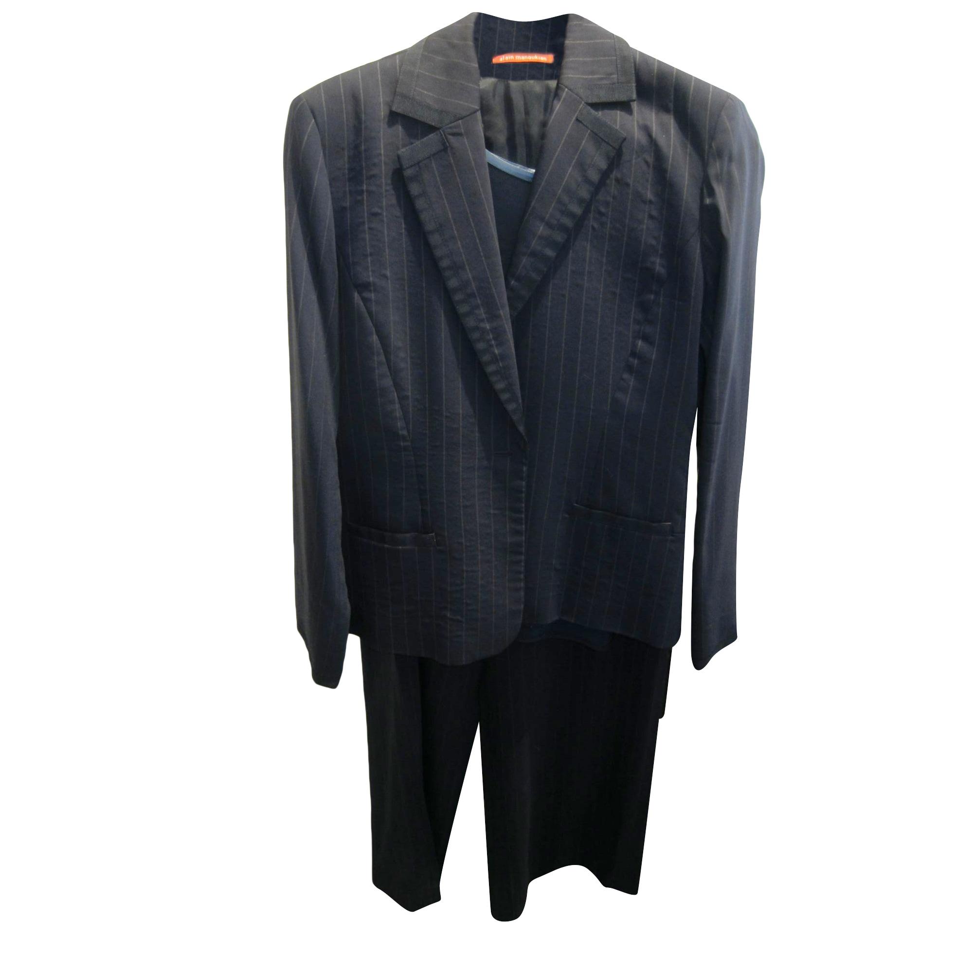 Tailleur pantalon ALAIN MANOUKIAN Bleu, bleu marine, bleu turquoise