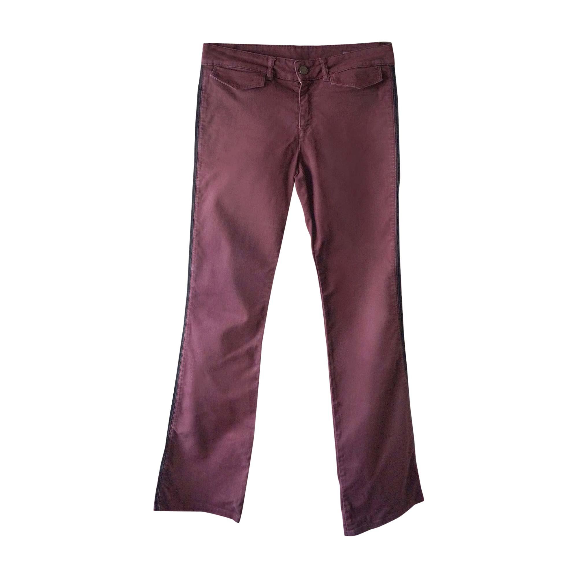Jeans évasé, boot-cut ALEXANDER MCQUEEN Violet, mauve, lavande