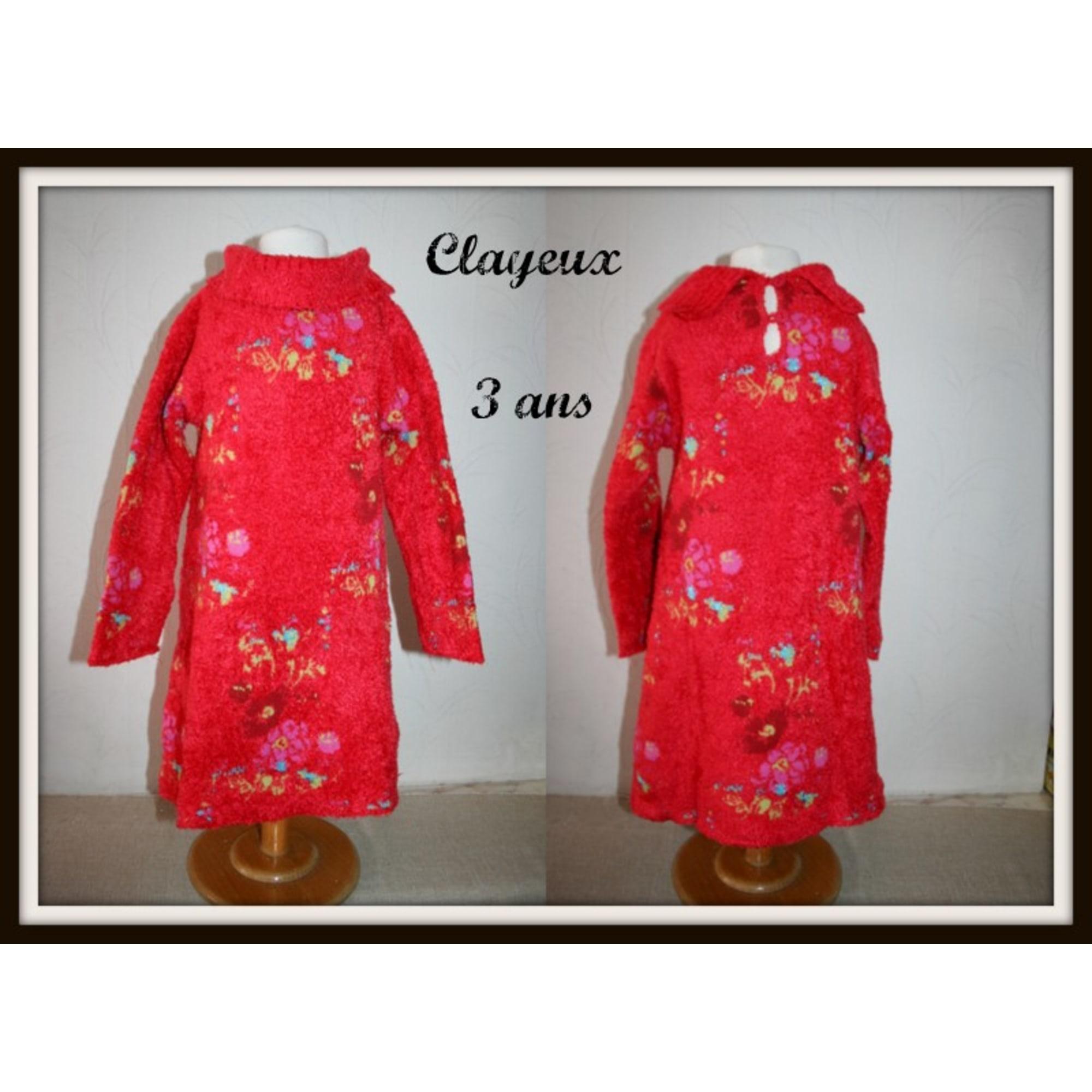 Robe CLAYEUX Rouge, bordeaux
