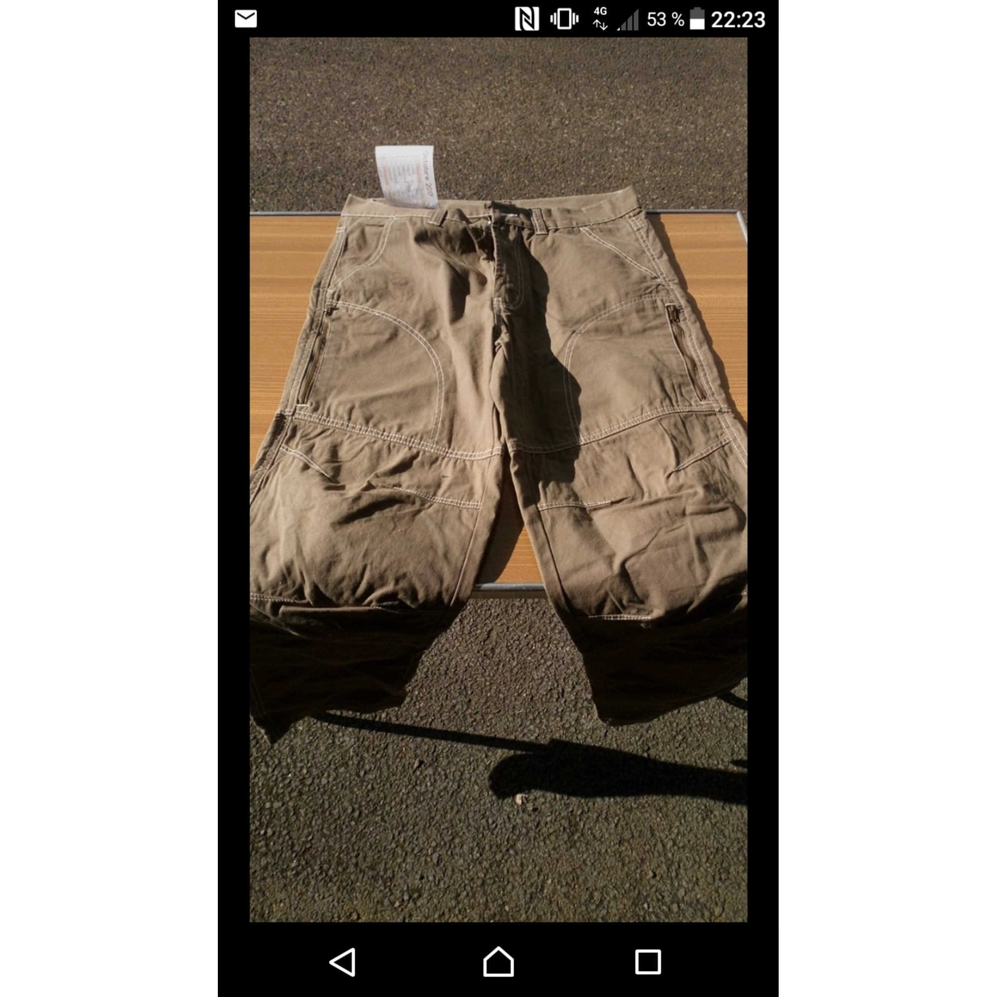 Pantalon large ATLAS FOR MEN Beige, camel