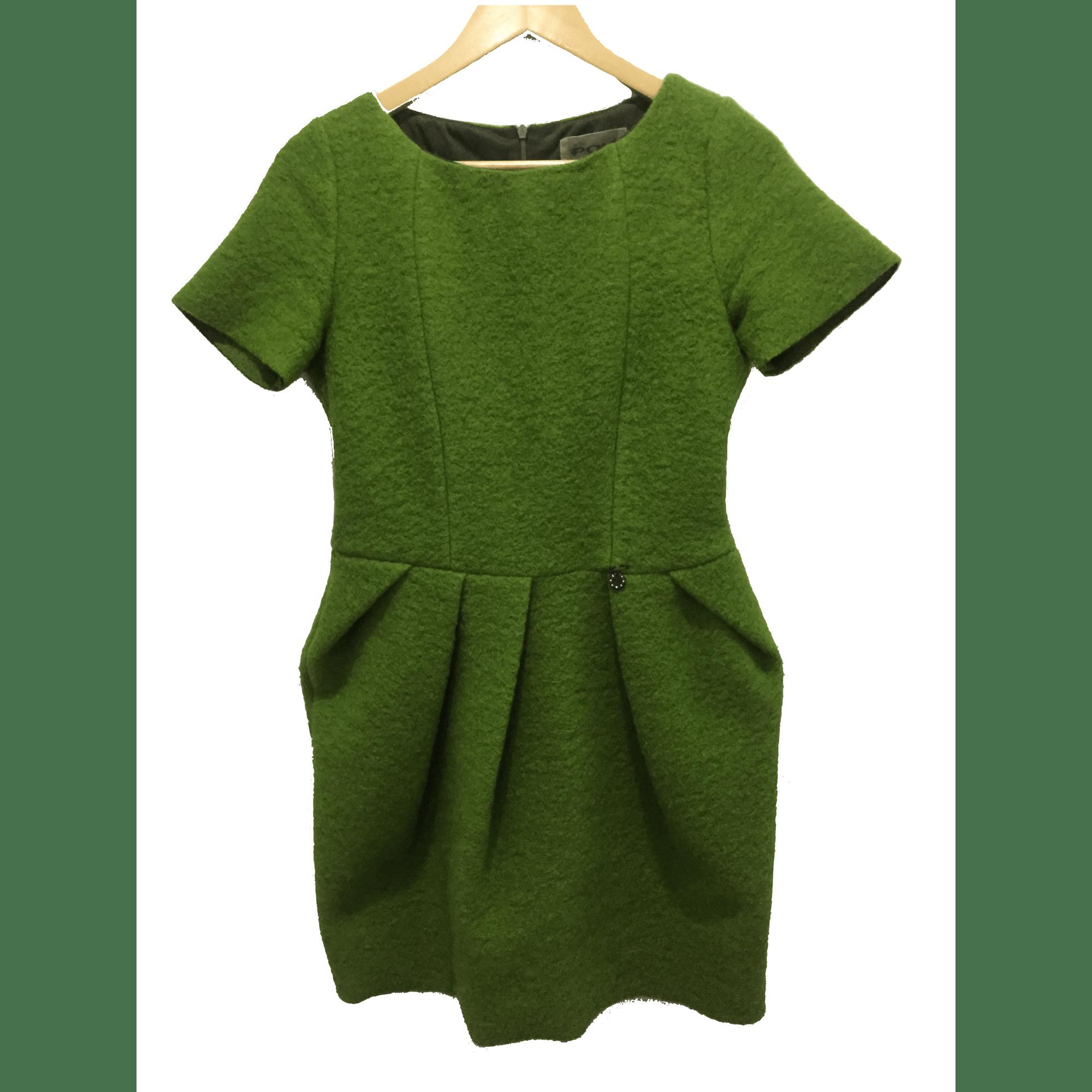 Robe mi-longue MARQUE INCONNUE Vert