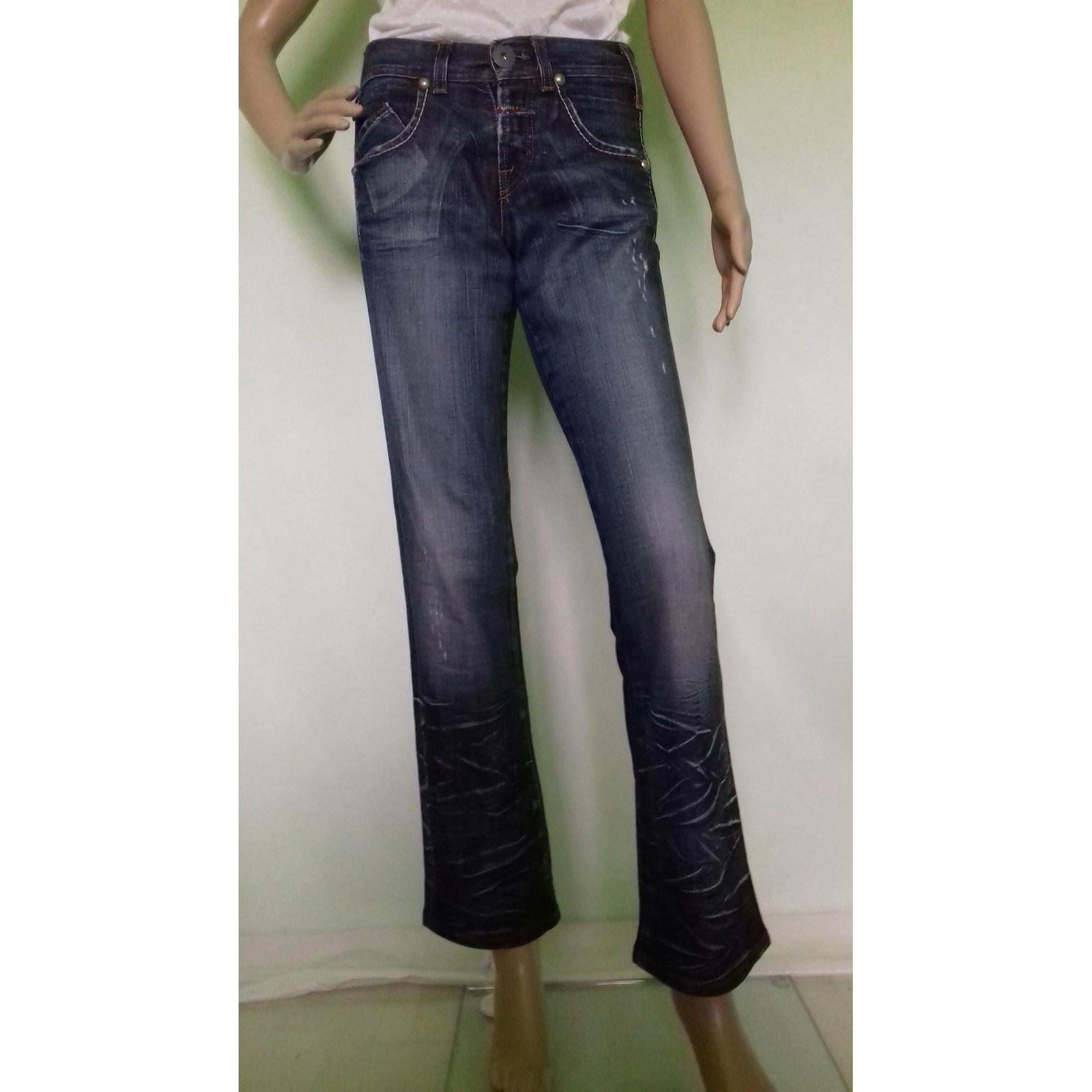 Jeans évasé, boot-cut MARITHÉ ET FRANÇOIS GIRBAUD bleu ciel bleu foncé