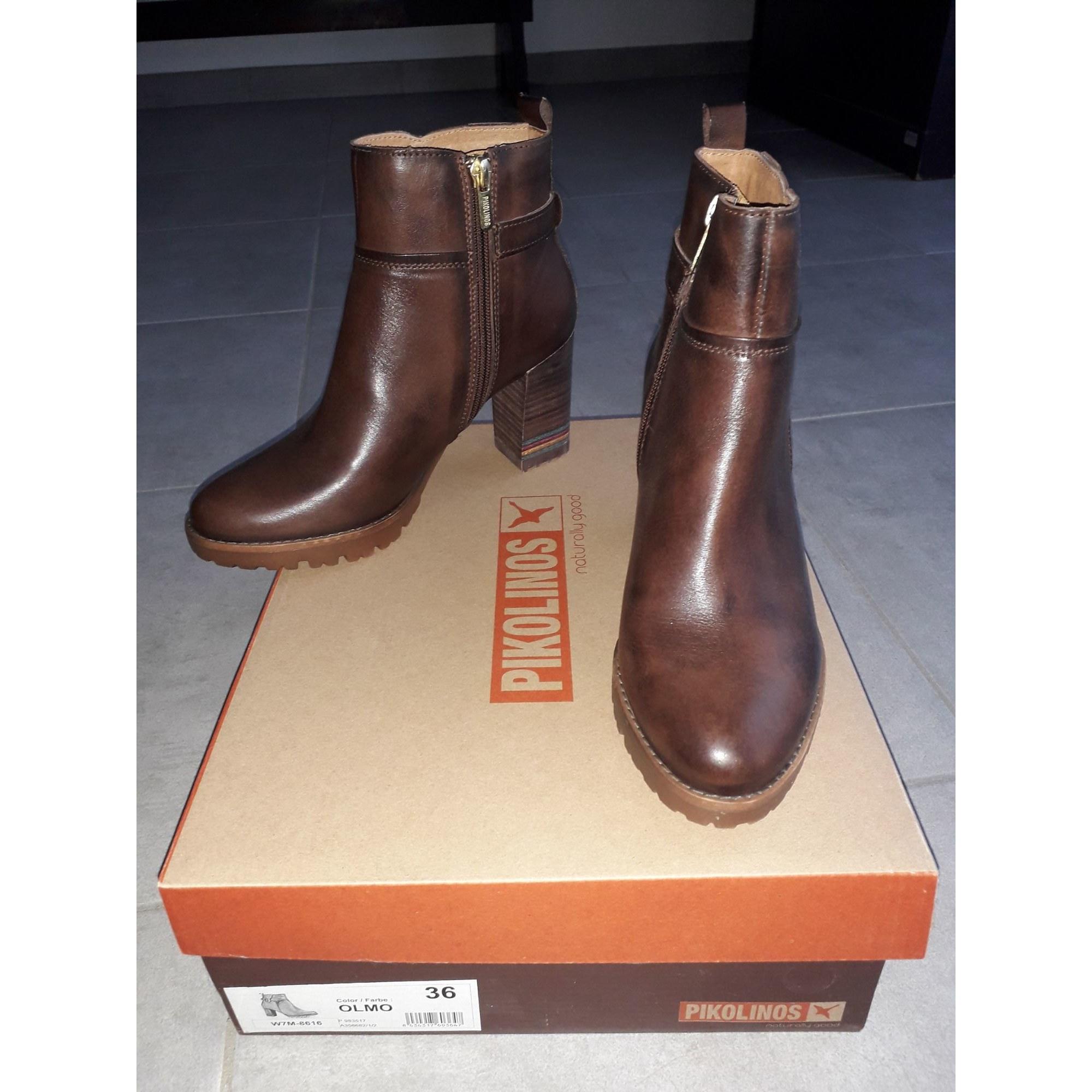 Bottines & low boots à talons PIKOLINOS Marron