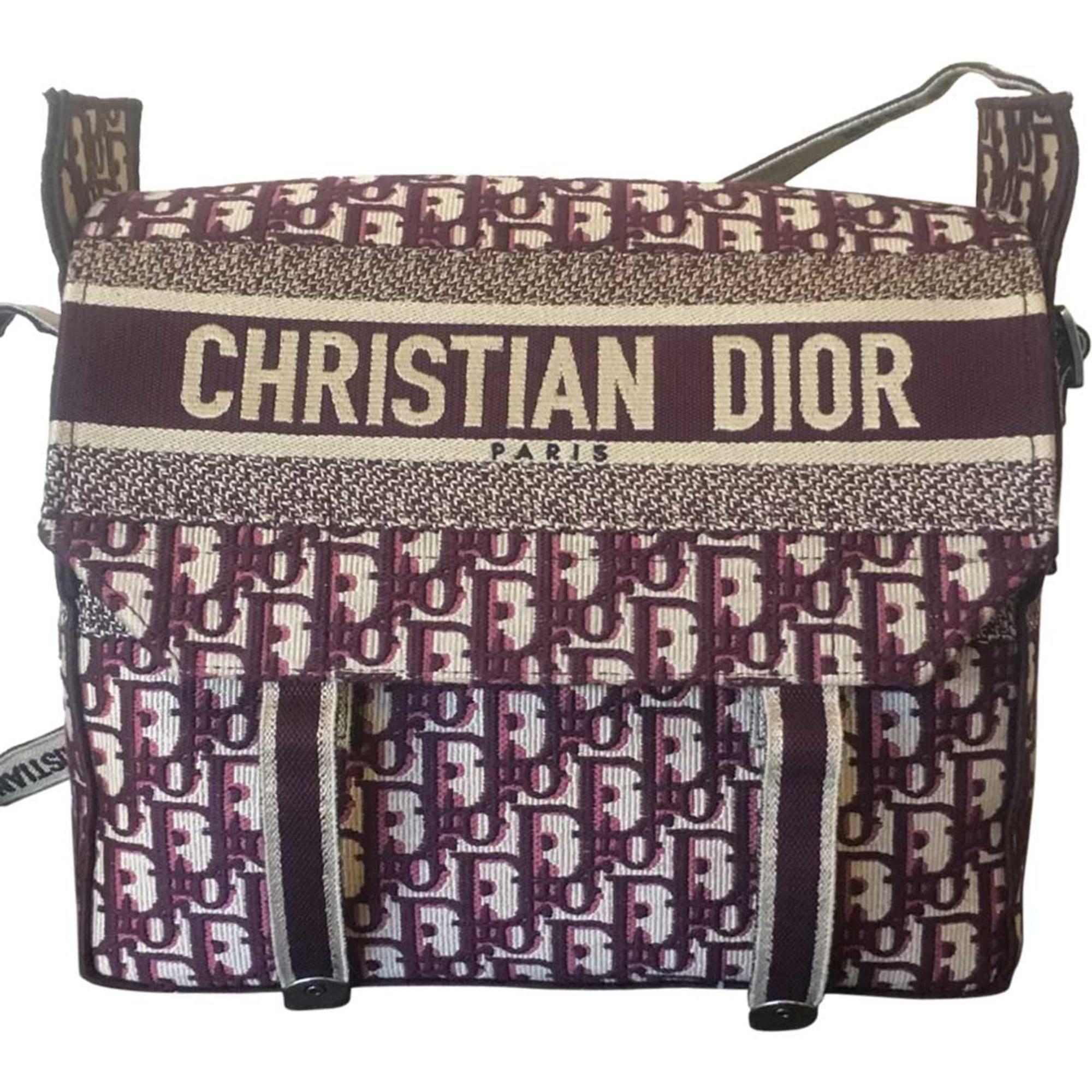 Non-Leather Shoulder Bag DIOR Red, burgundy