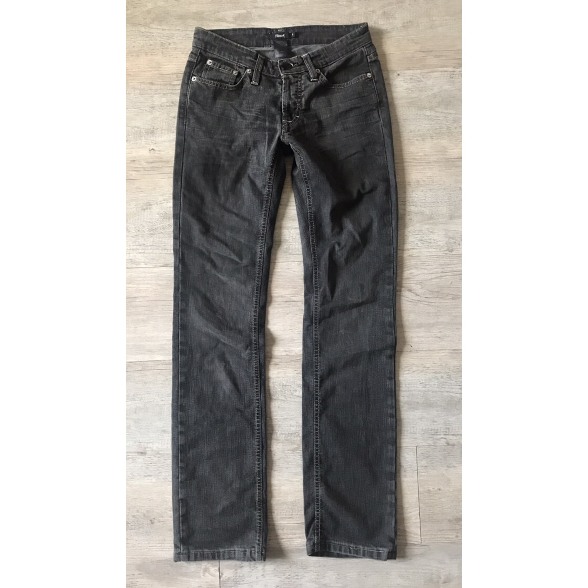 Jeans droit FILIPPA K Gris, anthracite