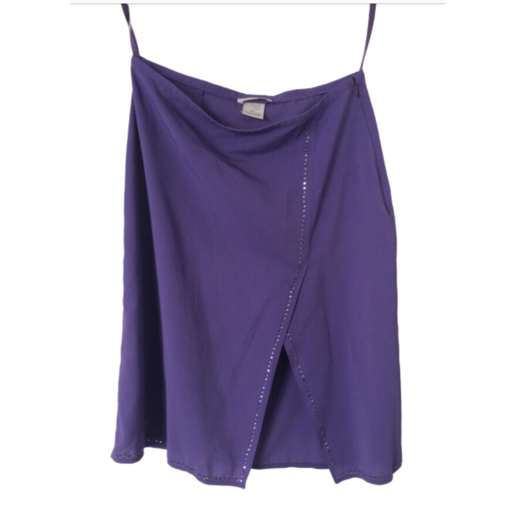Jupe courte CAPUCINE PUERARI Violet, mauve, lavande