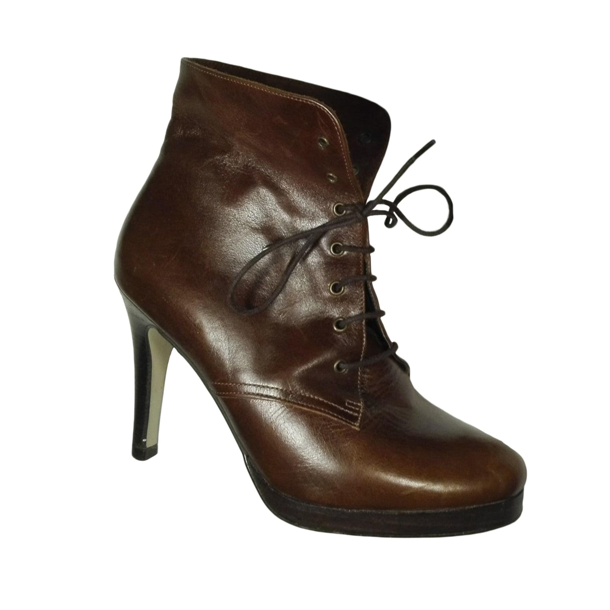 High Heel Ankle Boots GERARD DAREL Brown