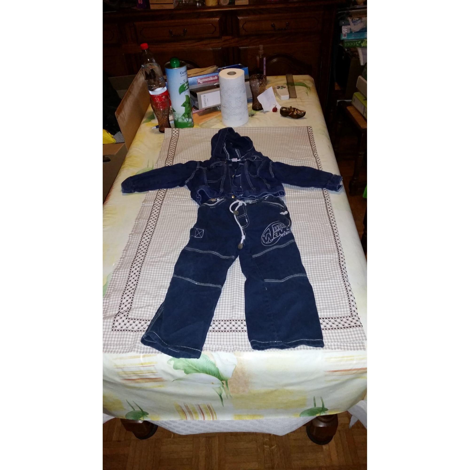 Pants Set, Outfit MARQUE INCONNUE Blue, navy, turquoise