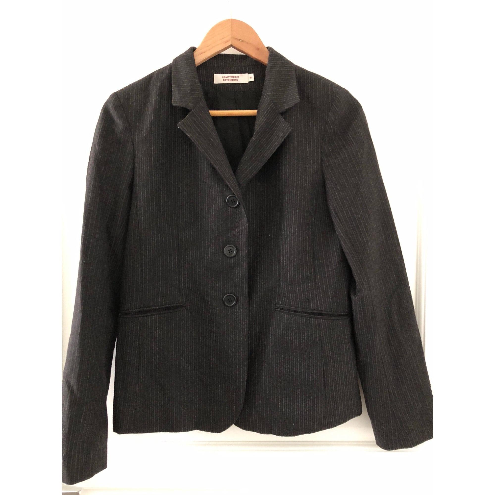 Blazer, veste tailleur COMPTOIR DES COTONNIERS Gris, anthracite