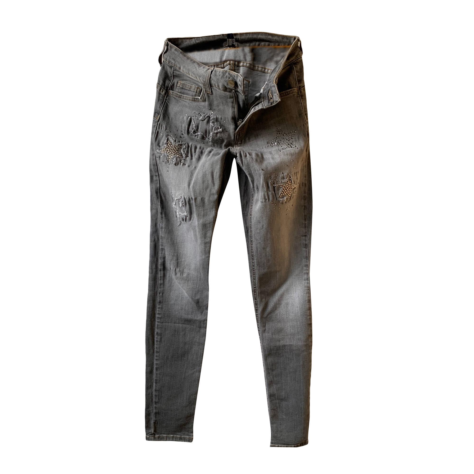 Jeans slim LIU JO Gris, anthracite
