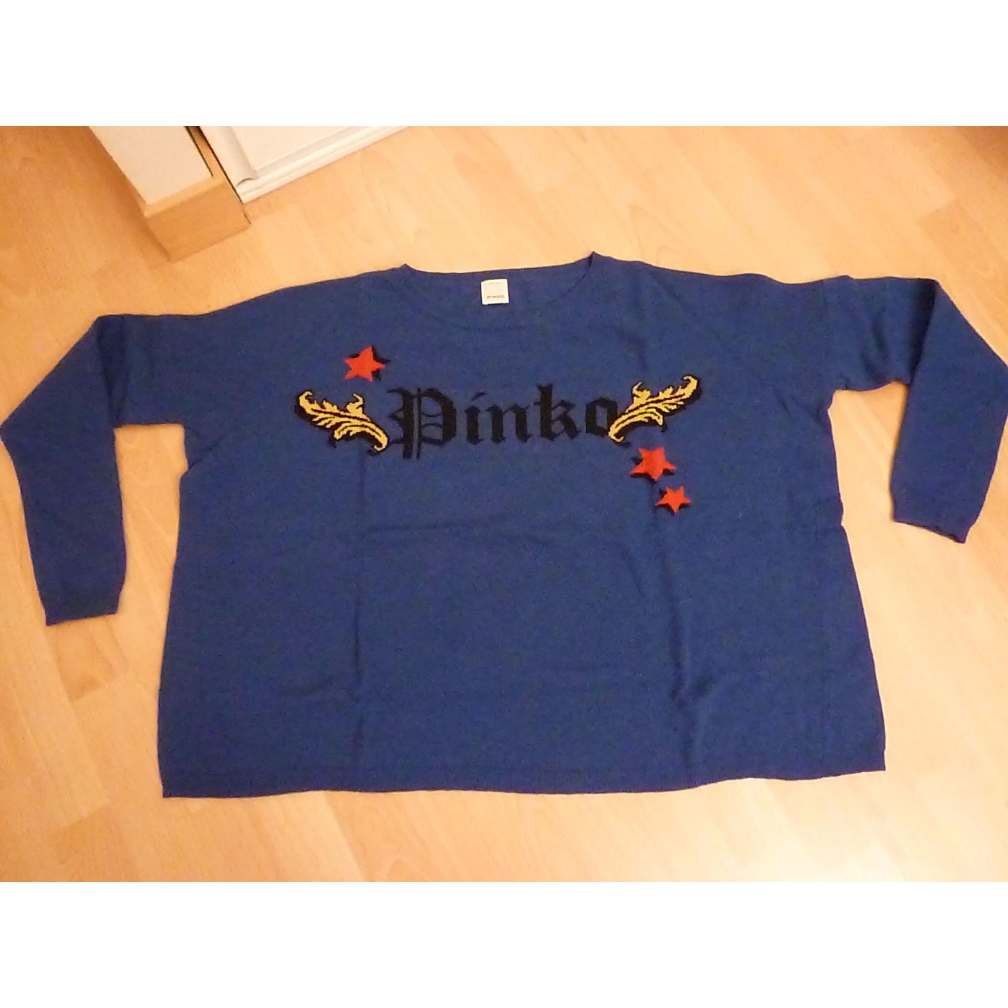 Pull PINKO Bleu, bleu marine, bleu turquoise