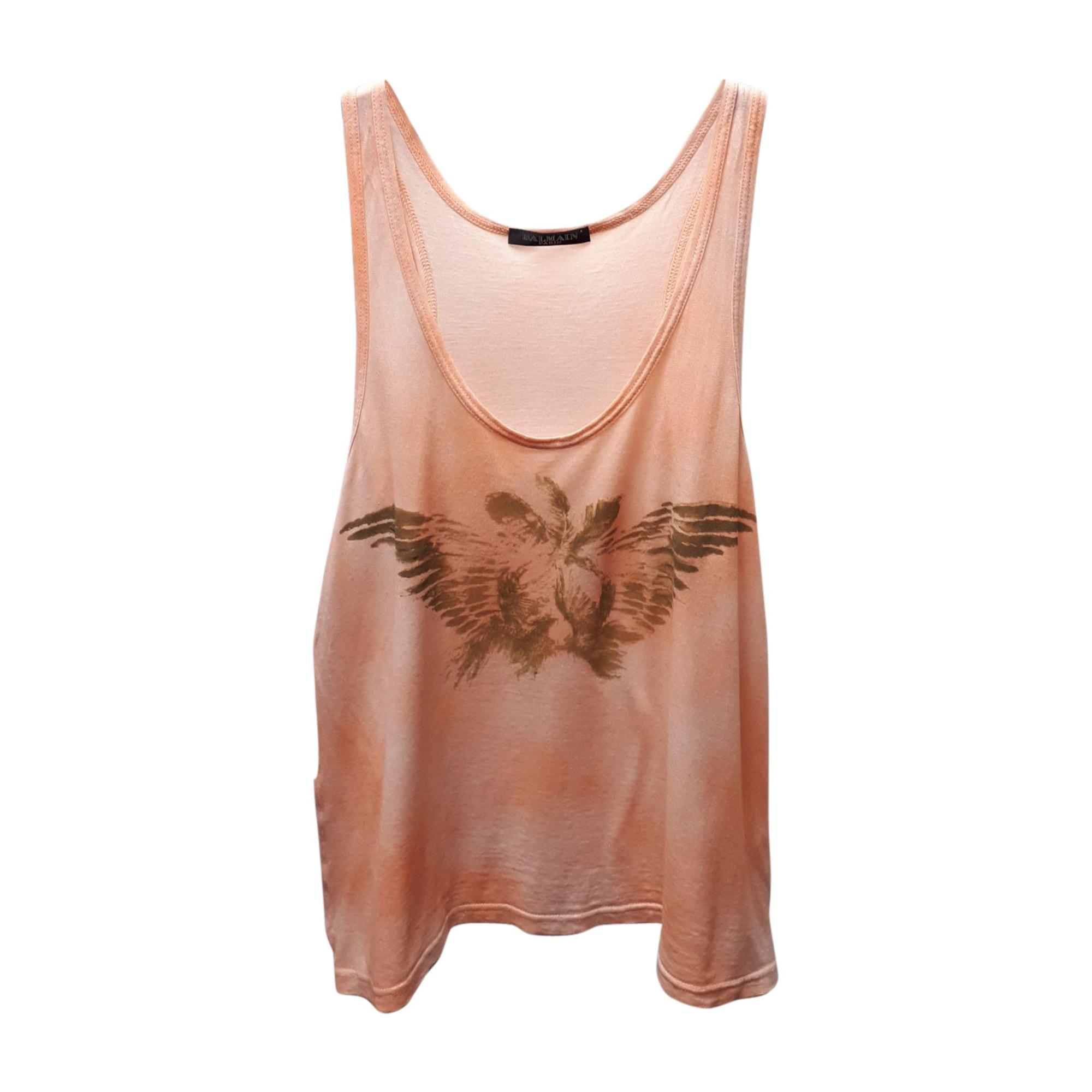 Top, tee-shirt BALMAIN Pink/Orange
