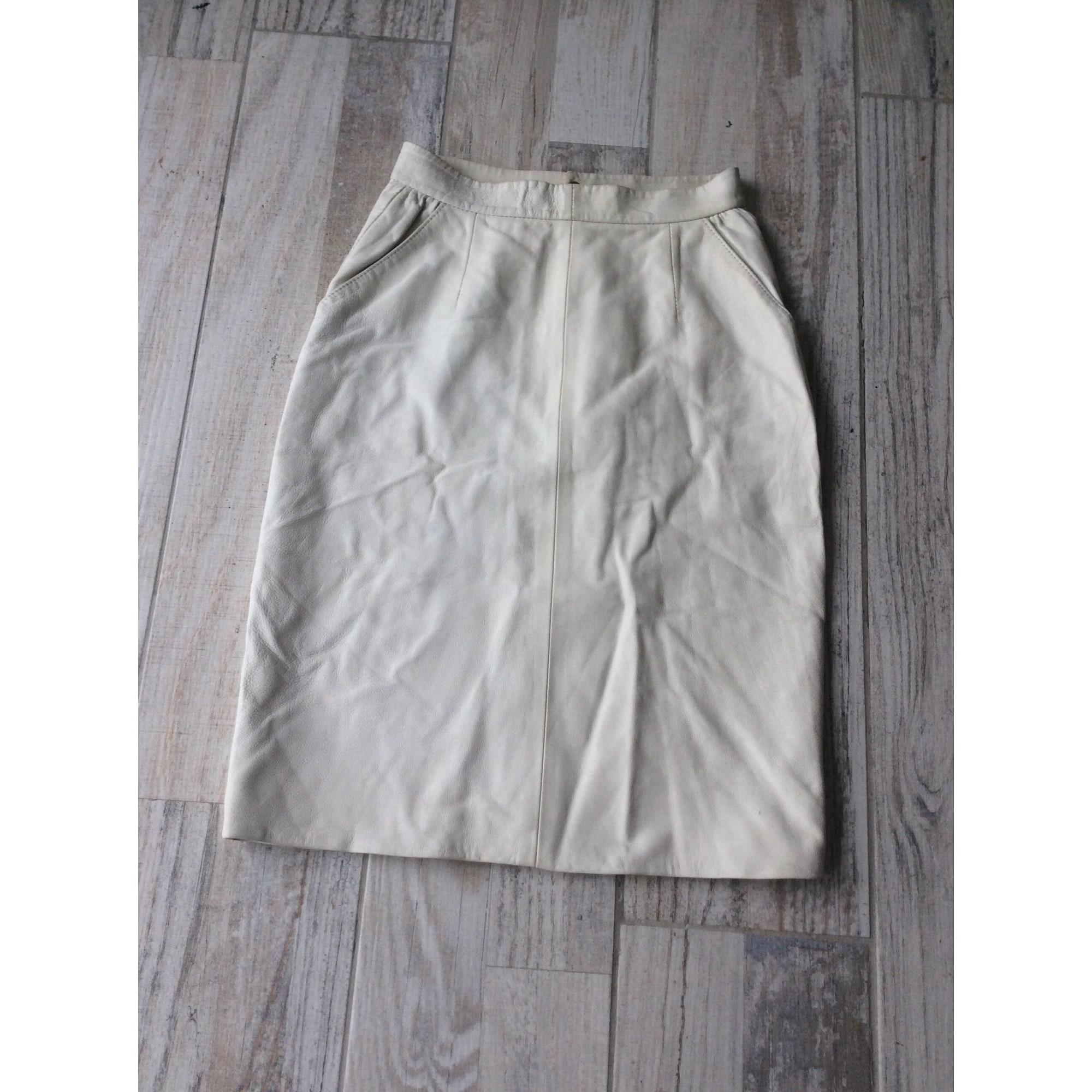 Jupe courte MARQUE INCONNUE Blanc, blanc cassé, écru