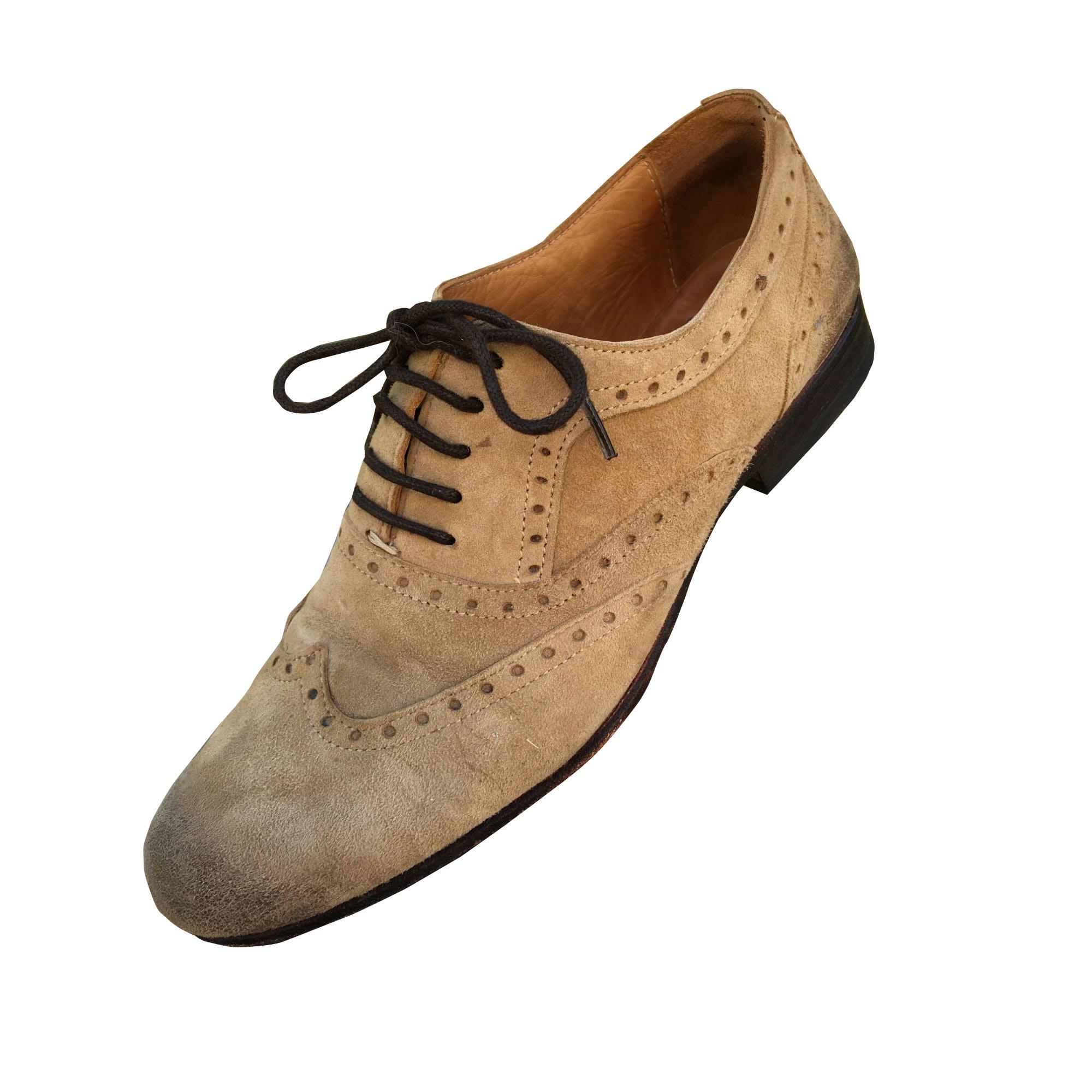 Chaussures à lacets  ATELIER VOISIN Beige, camel