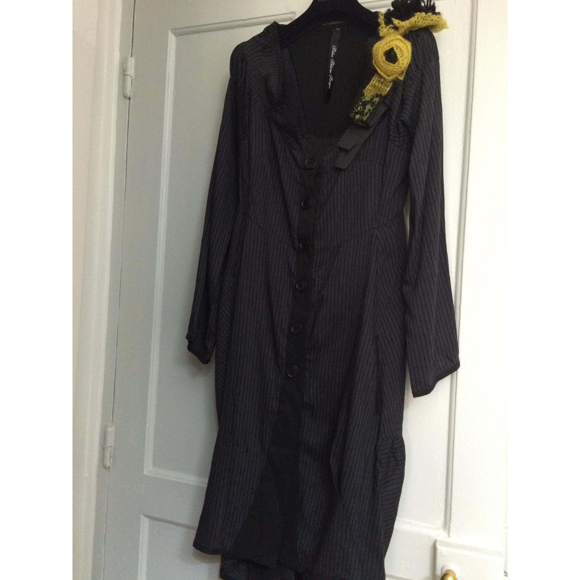 Robe mi-longue BLEU BLANC ROUGE Gris, anthracite