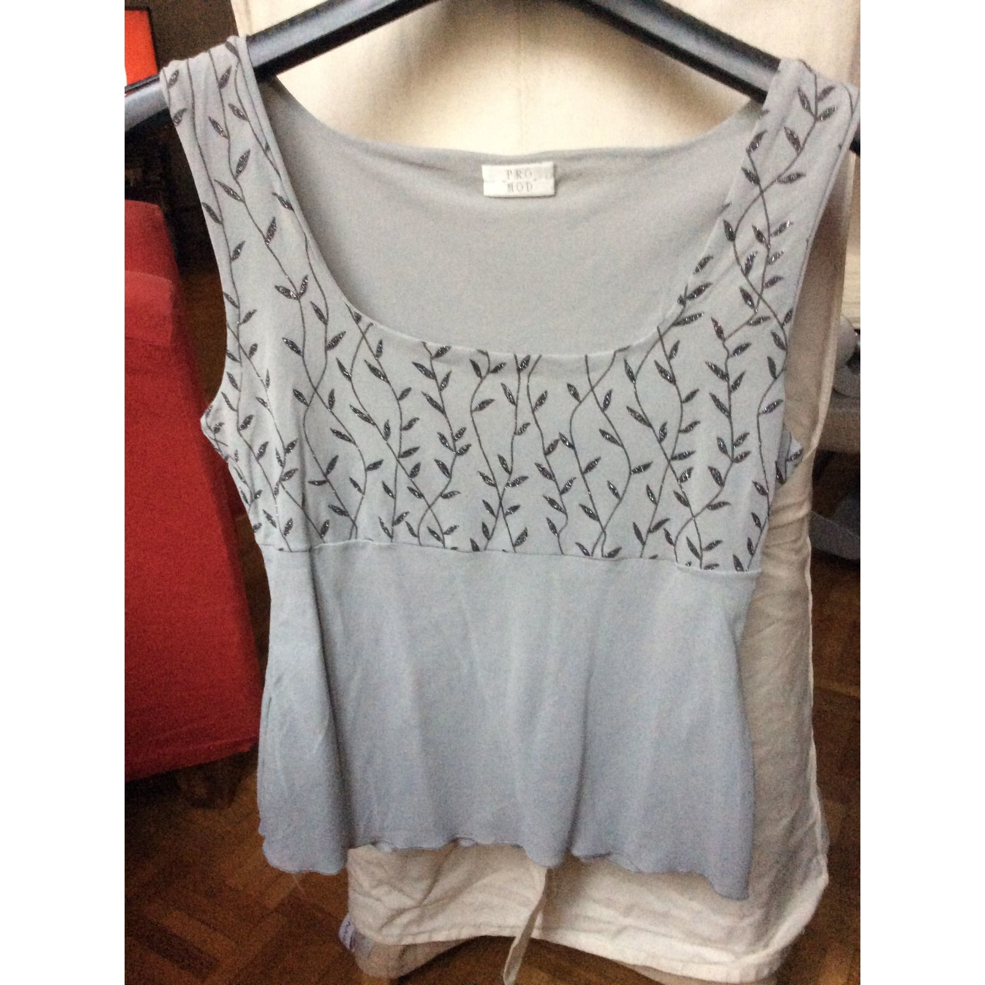 Top, tee-shirt PROMOD Gris, anthracite