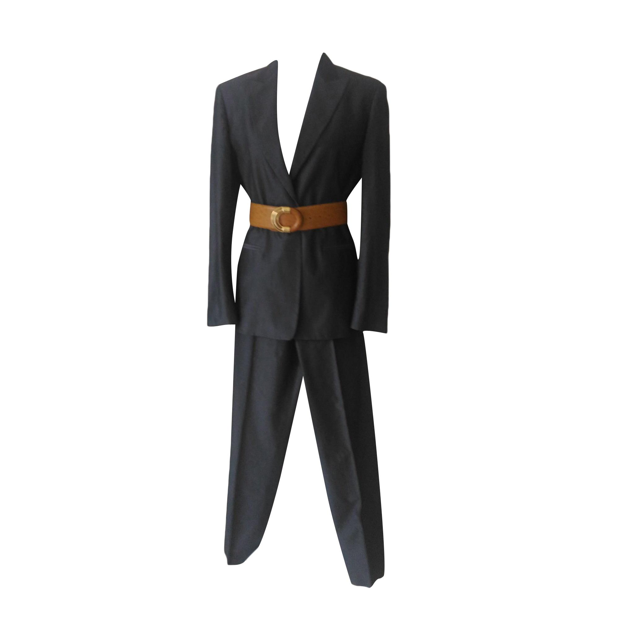 Tailleur pantalon MAX MARA Gris, anthracite
