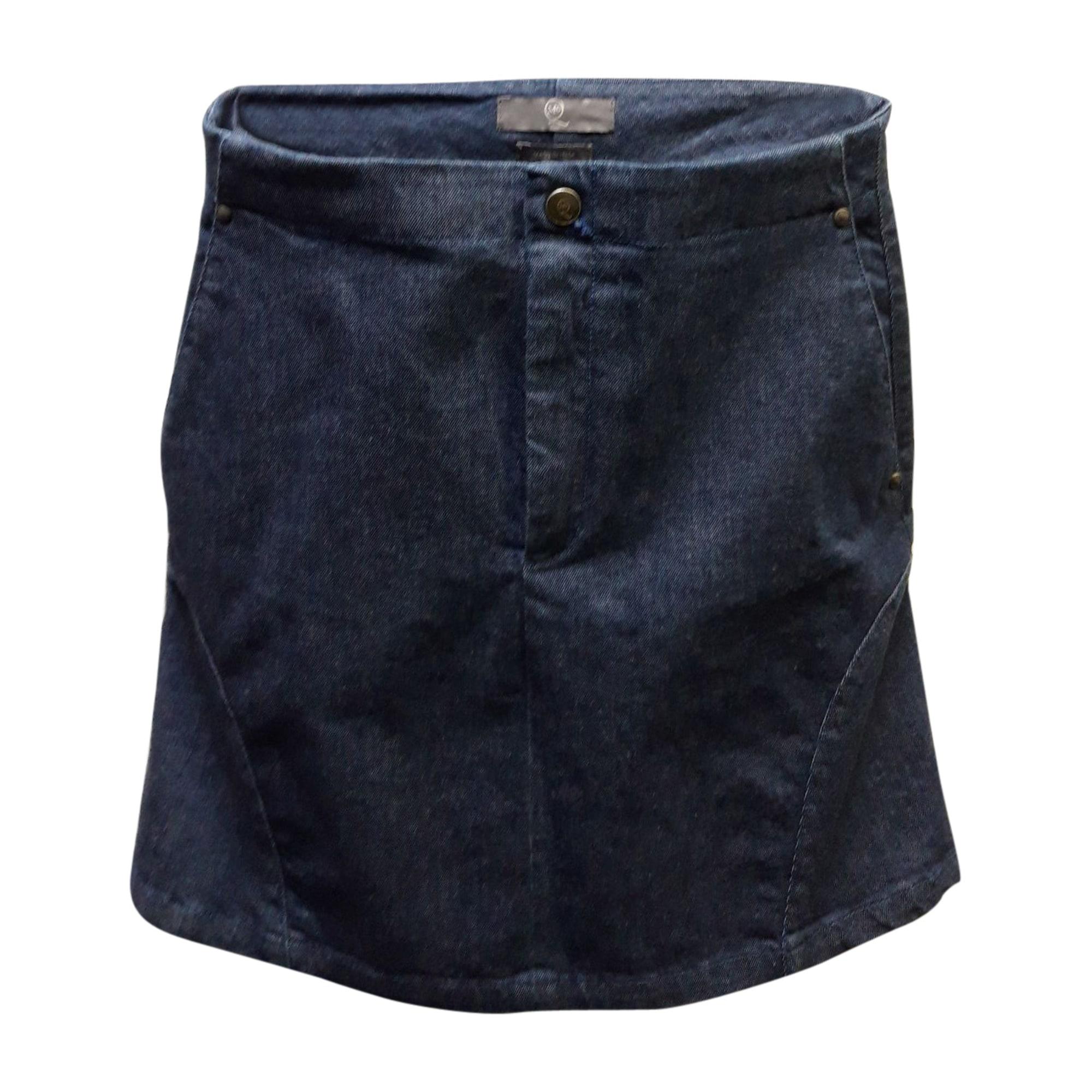 Jupe en jean ALEXANDER MCQUEEN Bleu, bleu marine, bleu turquoise