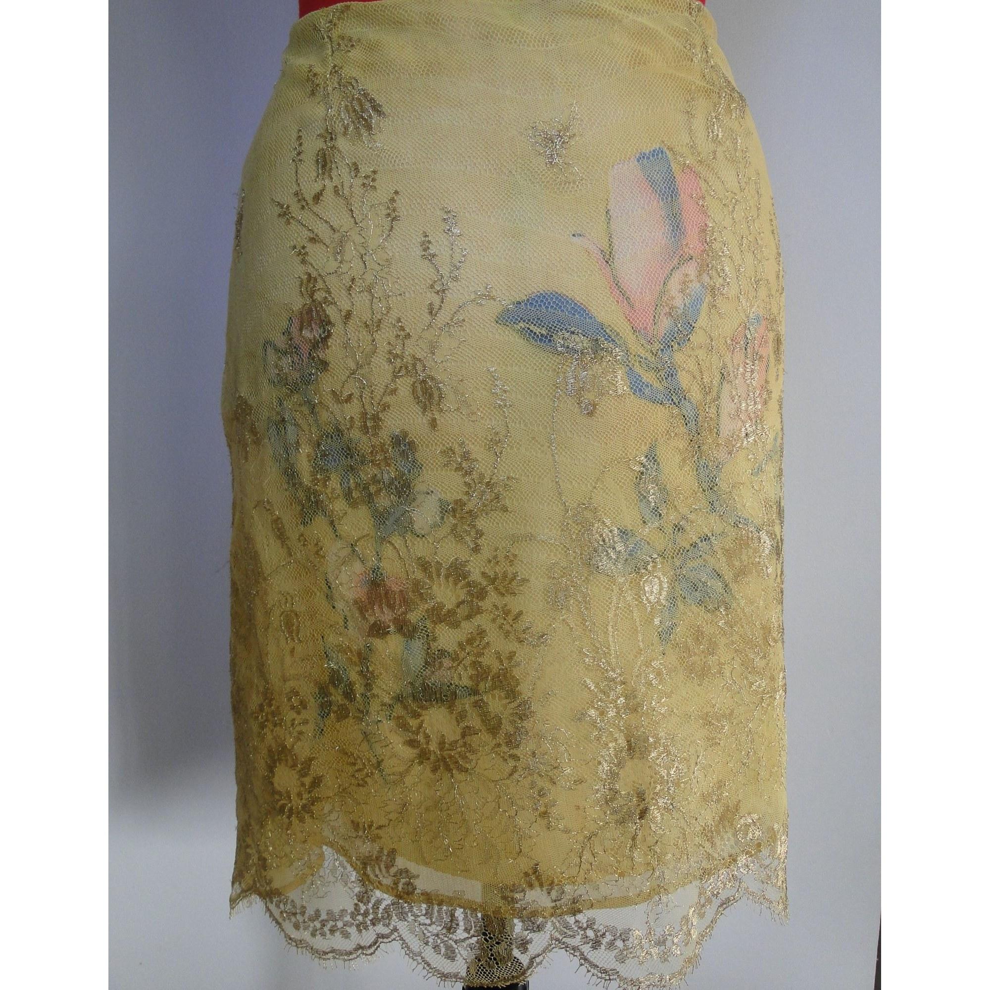 Jupe courte CHRISTIAN LACROIX Doré, bronze, cuivre
