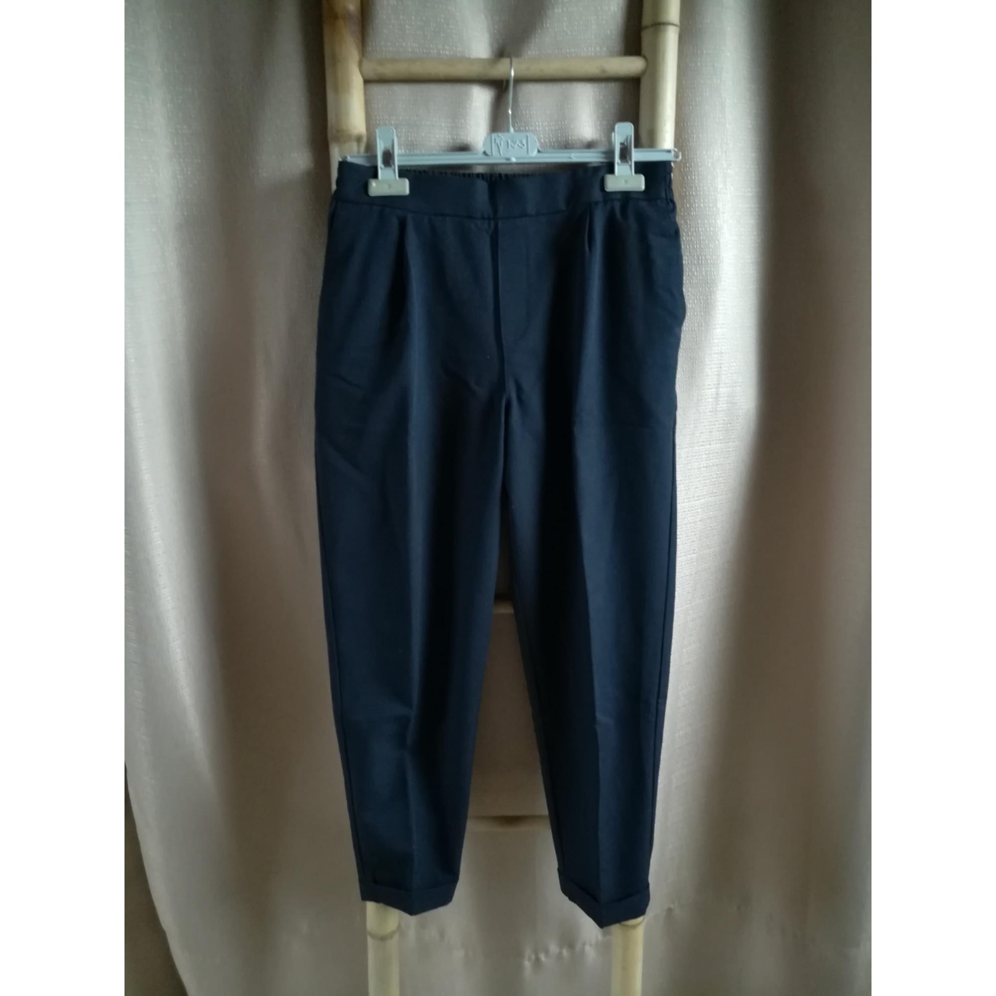 Pantalon carotte PULL & BEAR Bleu, bleu marine, bleu turquoise