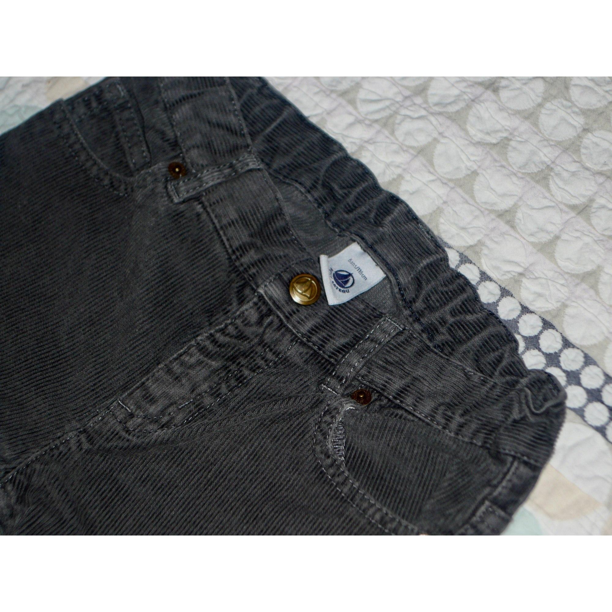 Jeans droit PETIT BATEAU Gris, anthracite