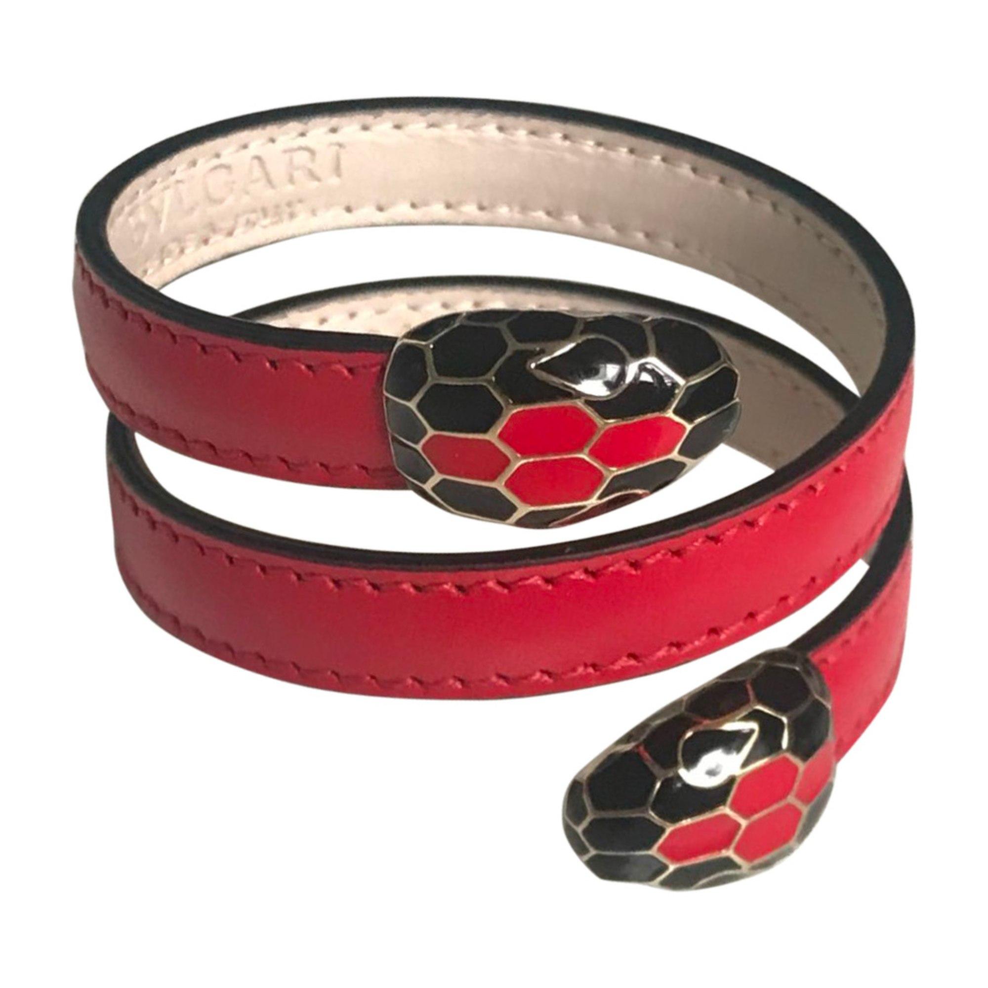 Bracelet BULGARI Red, burgundy