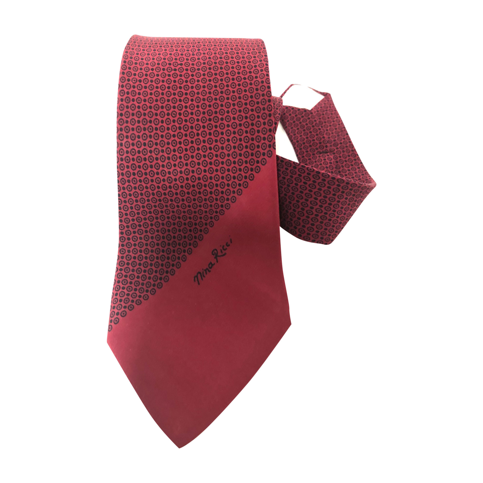 Tie NINA RICCI Red, burgundy