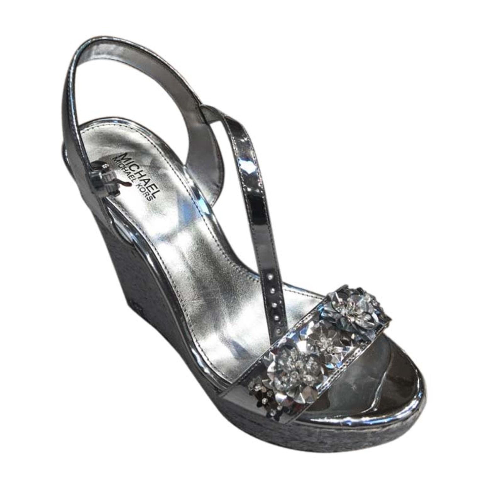 Sandales compensées MICHAEL KORS Argenté, acier