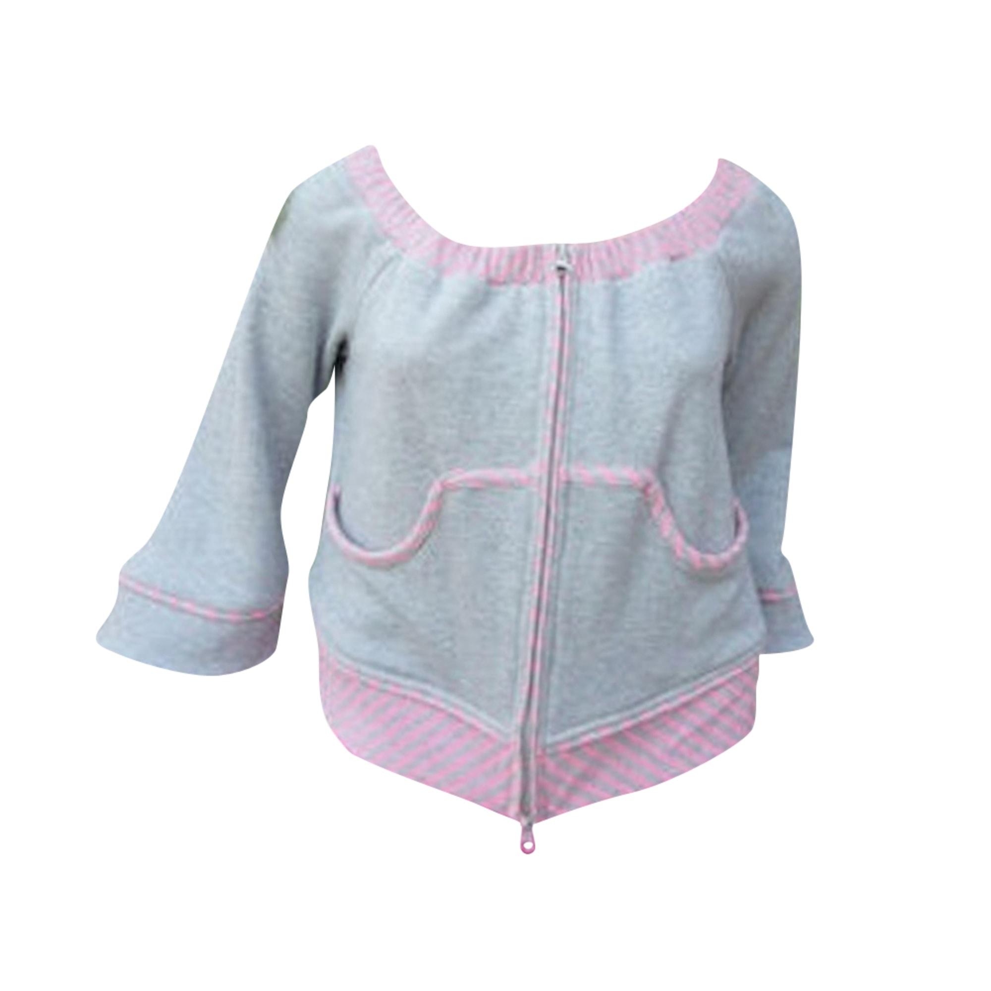 Blazer, veste tailleur SAVE THE QUEEN gris et rose bonbon