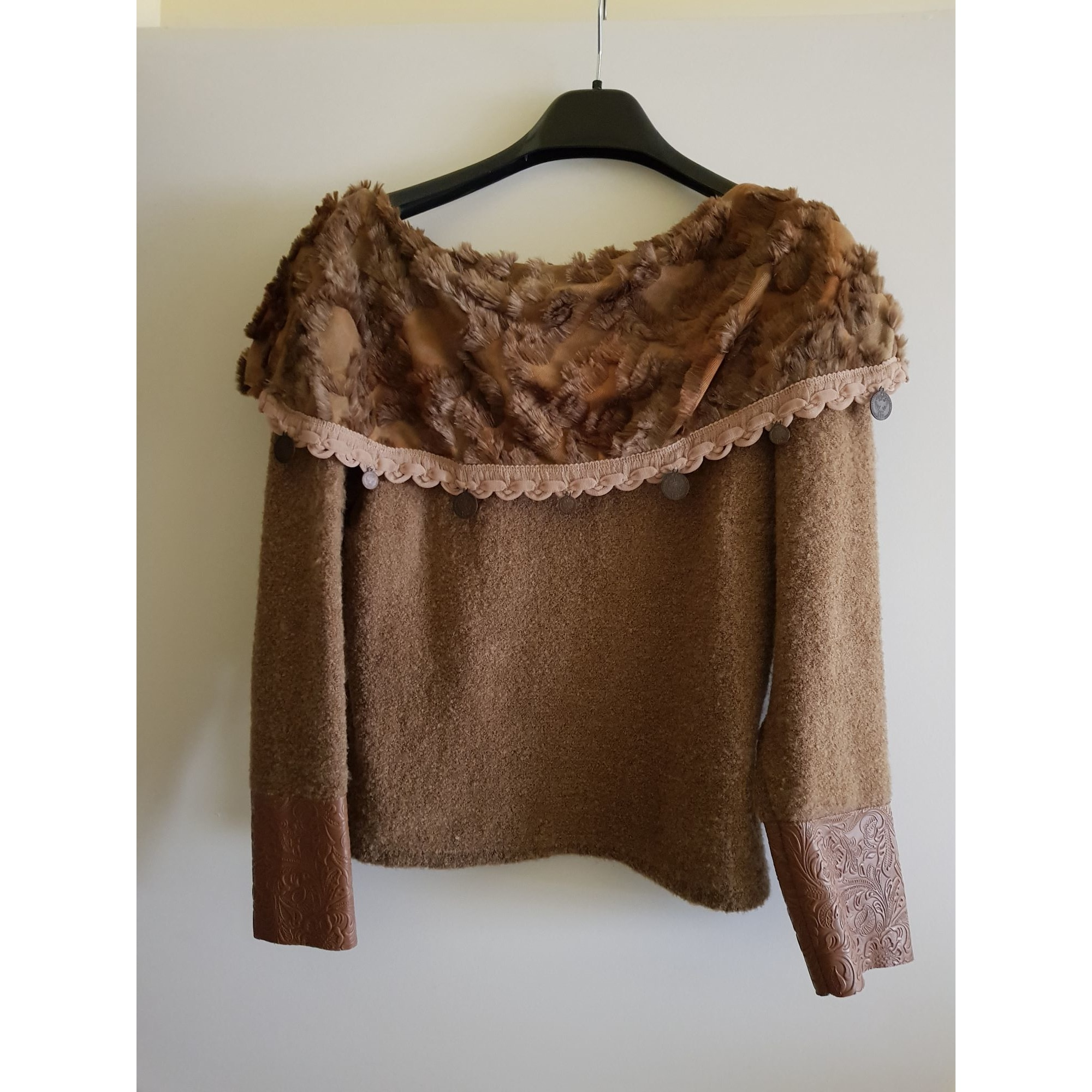 Pull COCON MENTHE Beige, camel