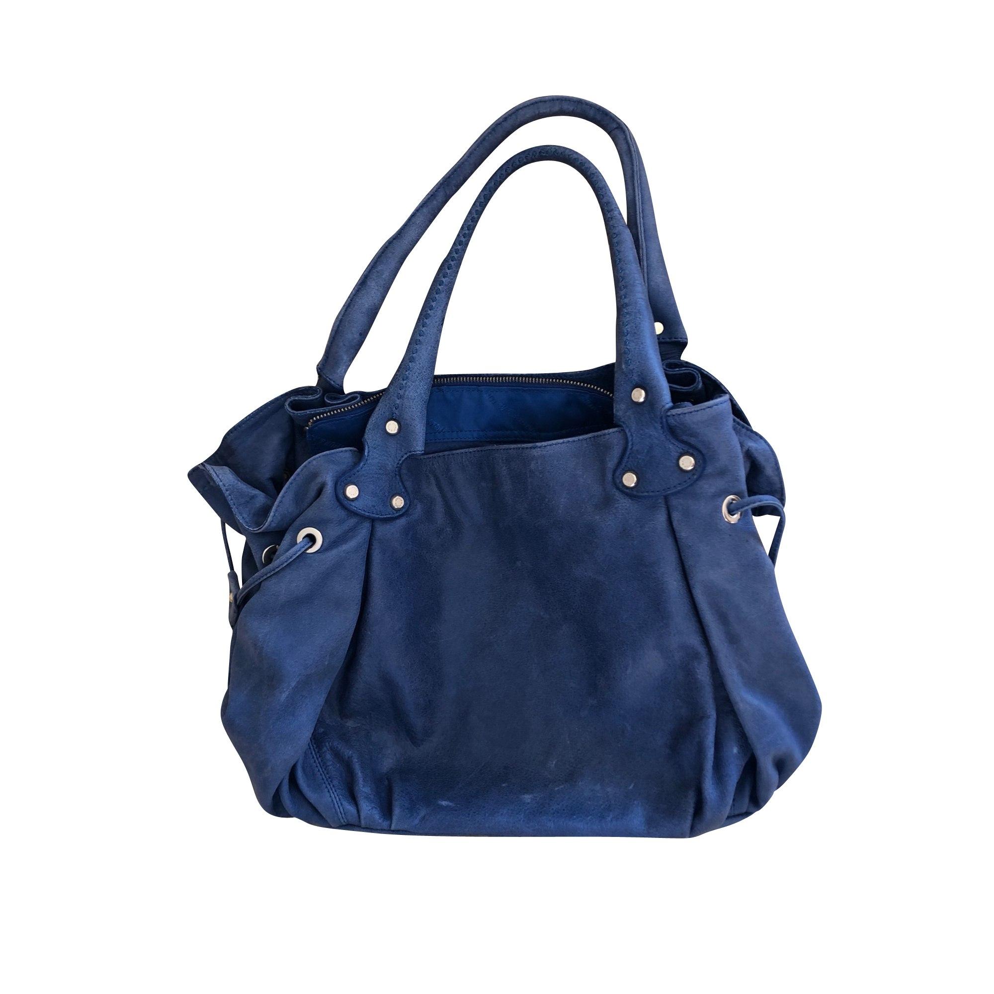 Lederhandtasche ARTHUR & ASTON Blau, marineblau, türkisblau