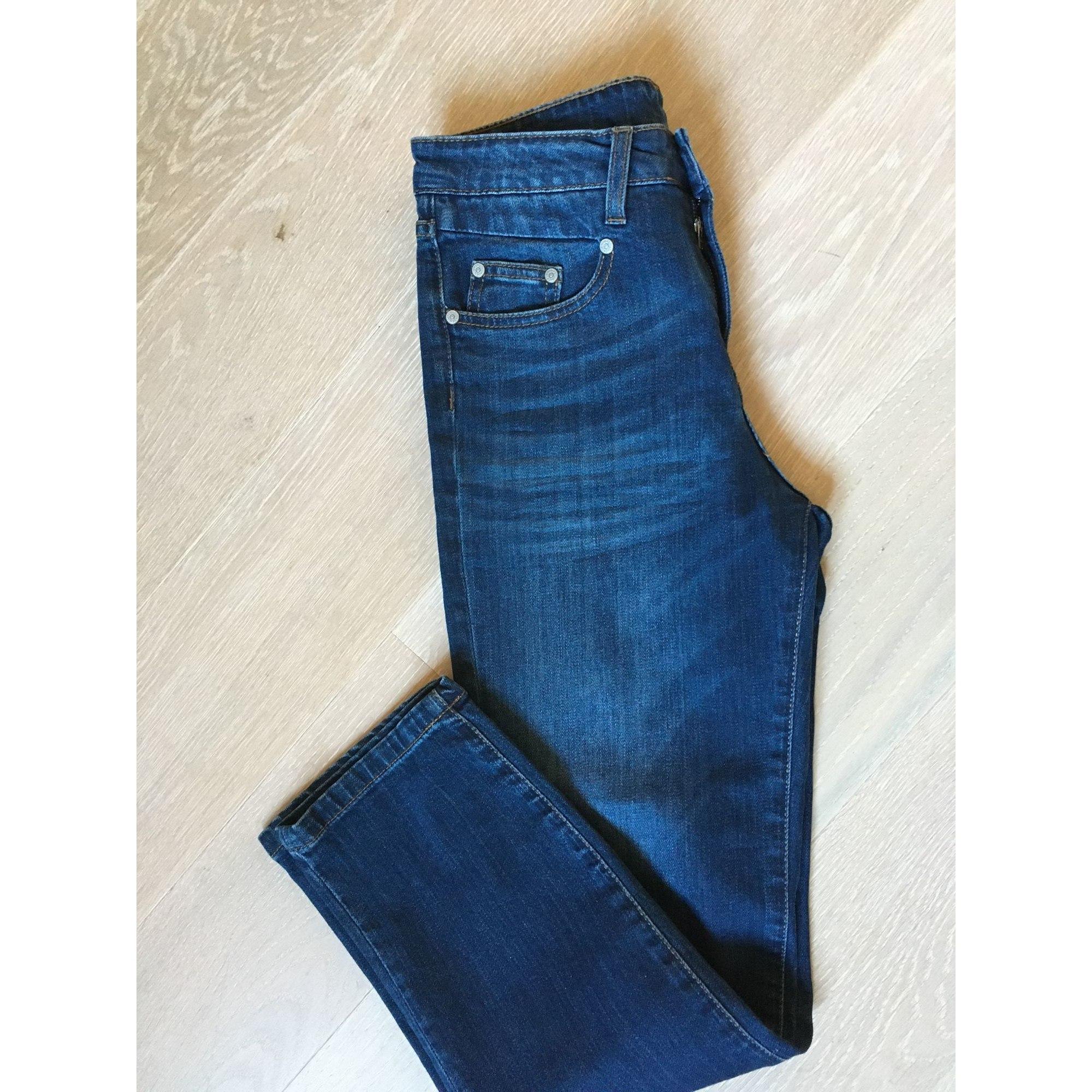 Jeans droit DENIM STUDIO Bleu, bleu marine, bleu turquoise
