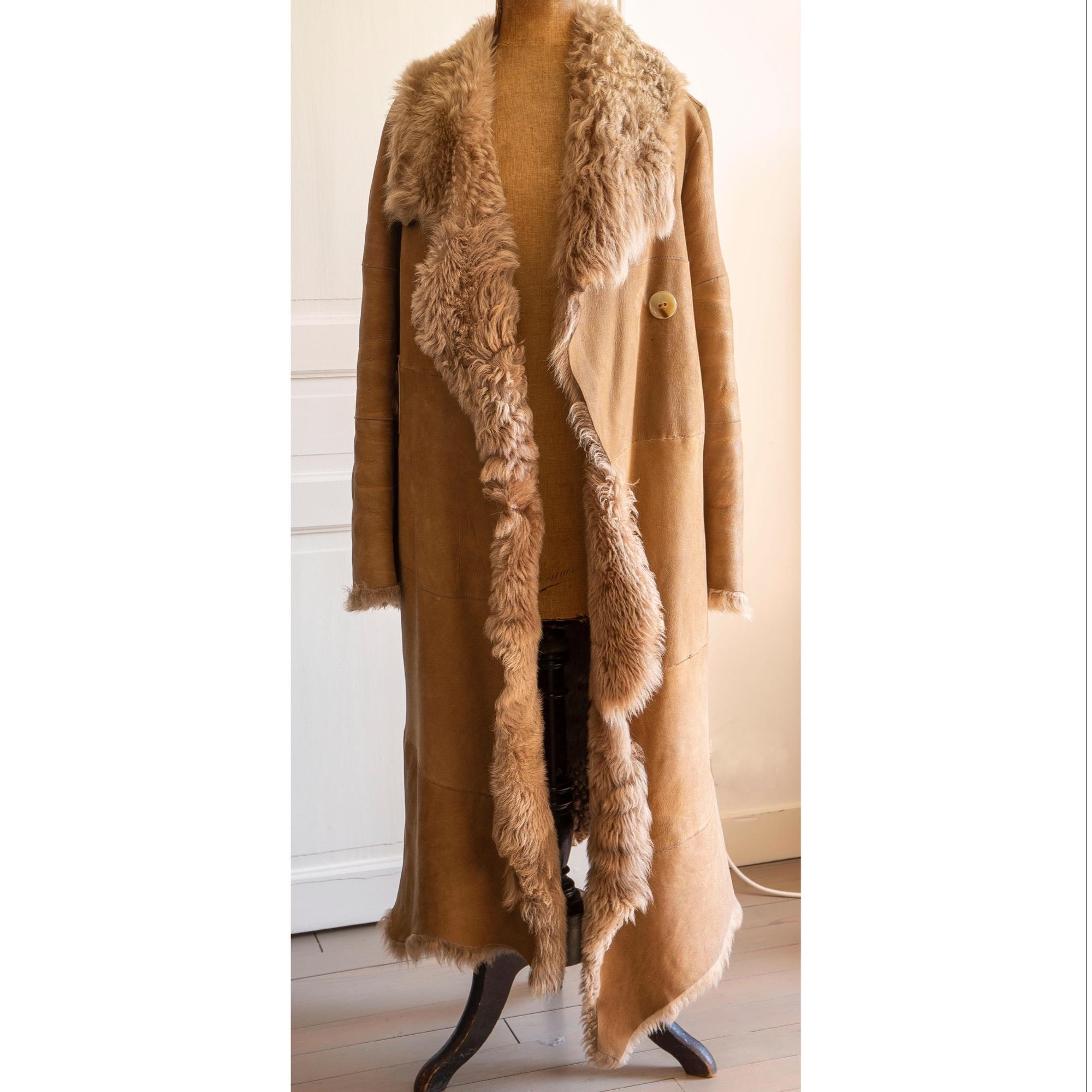 Manteau en fourrure PLEIN SUD Beige, camel