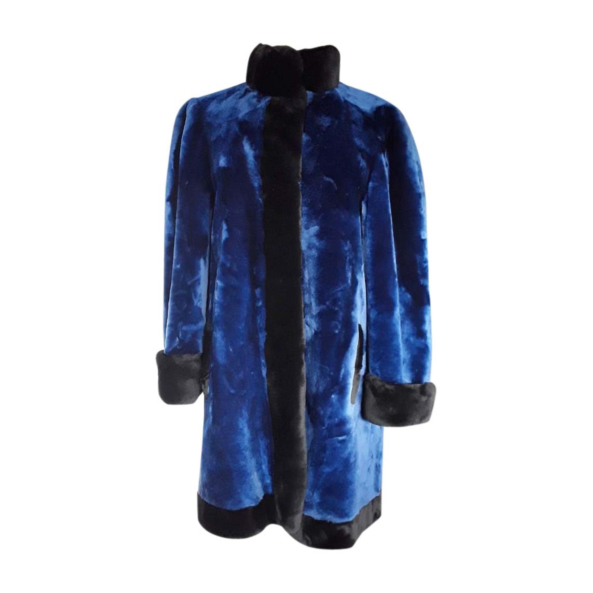 Manteau en fourrure DIOR Bleu, bleu marine, bleu turquoise
