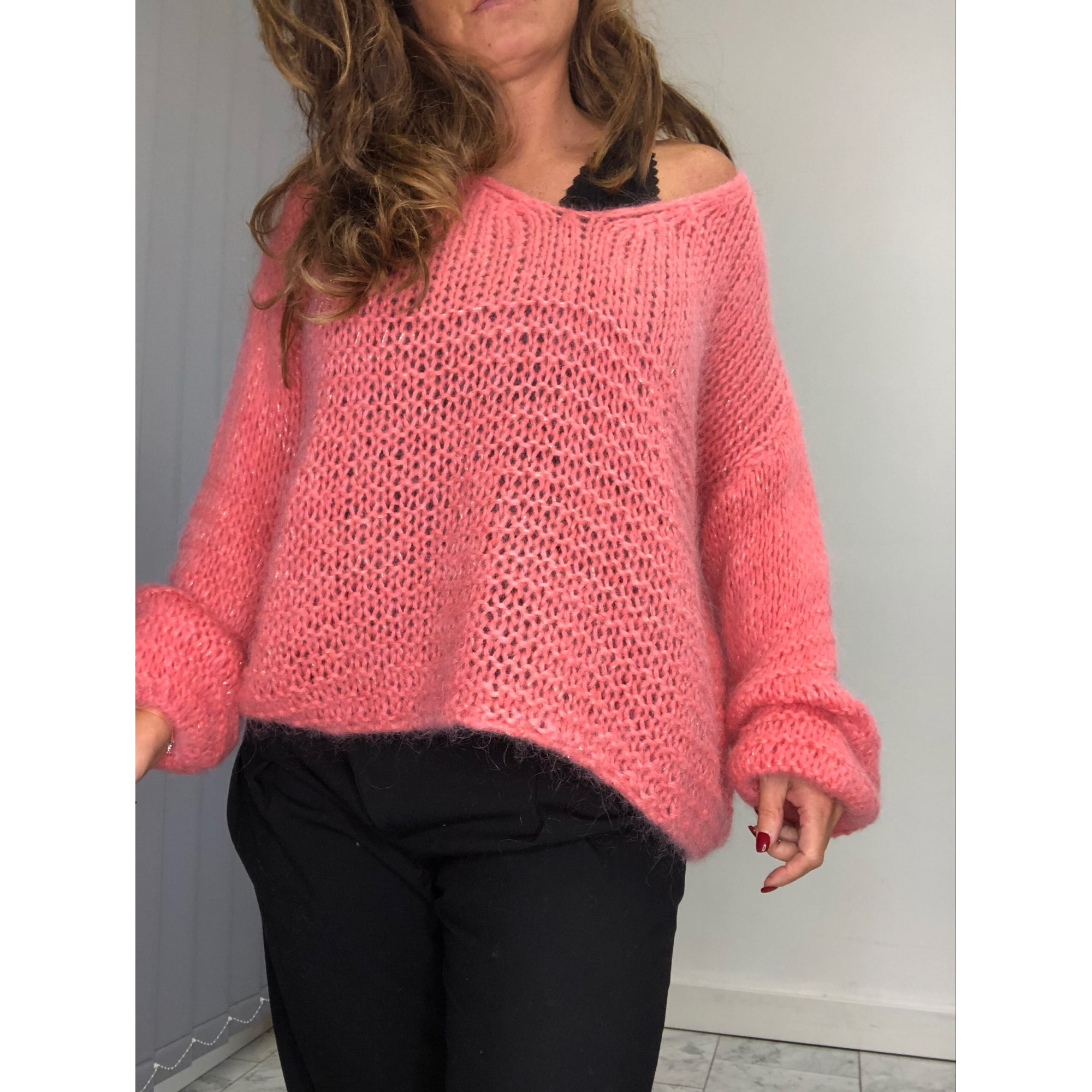 Pull MADE IN ITALY Rose, fuschia, vieux rose