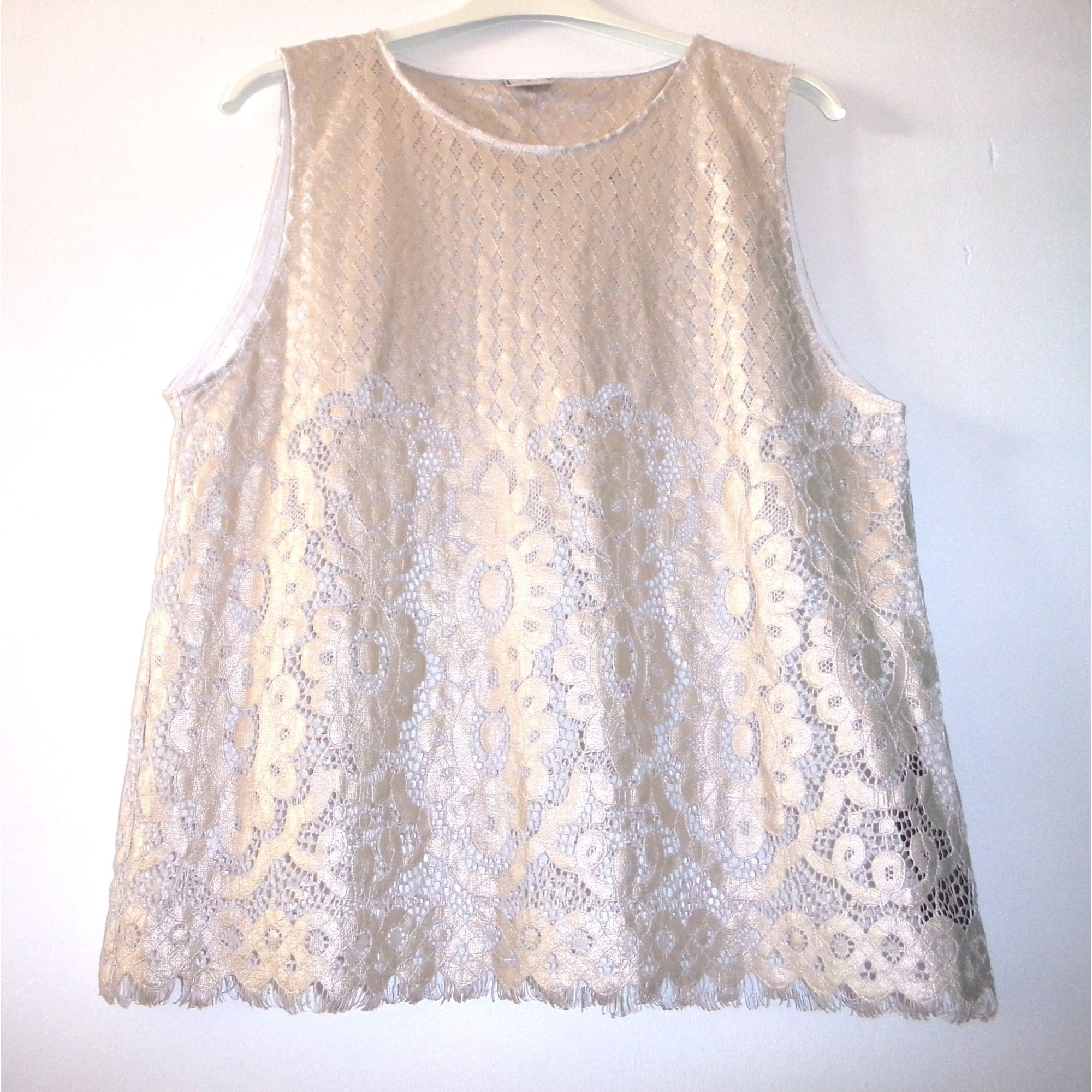 Top, tee-shirt ZARA Doré, bronze, cuivre