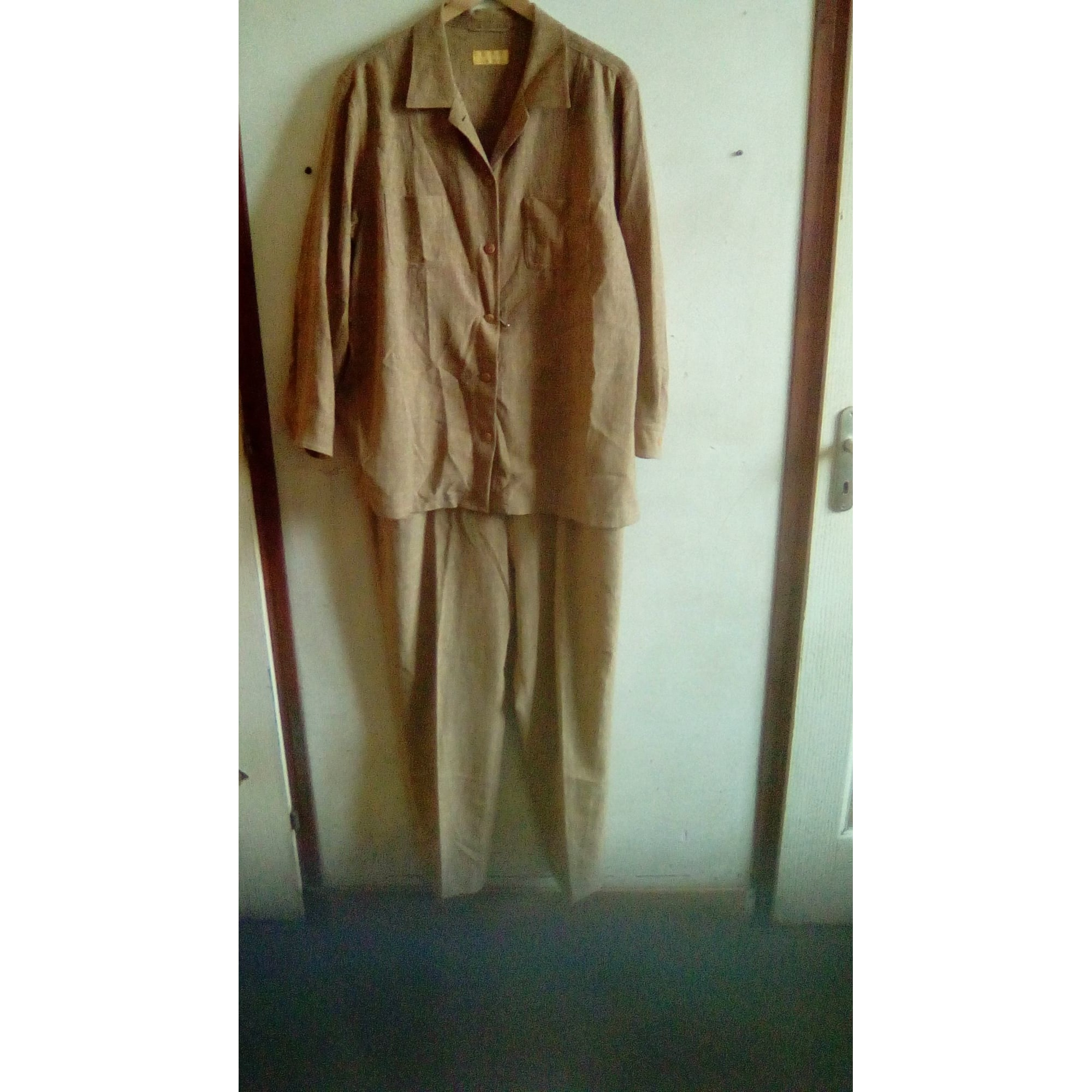Tailleur pantalon BRUNO DE SAINT HILAIRE Beige, camel