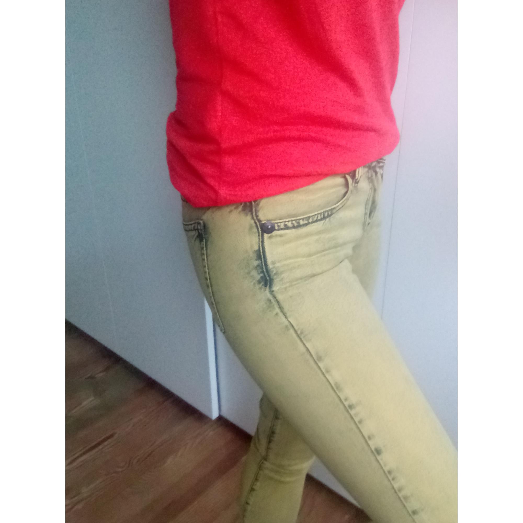 Jeans slim COP-COPINE Jaune